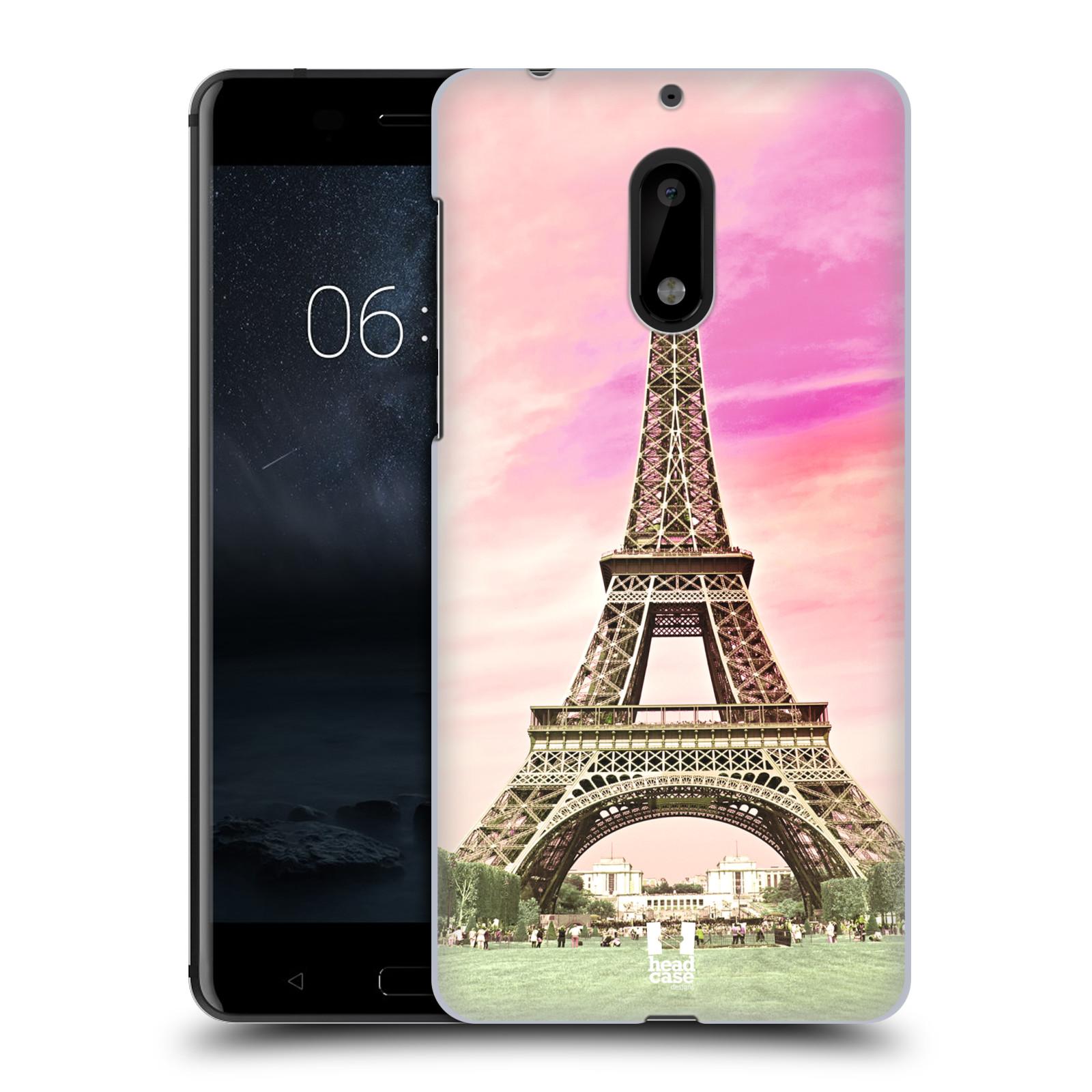 Plastové pouzdro na mobil Nokia 6 - Head Case RŮŽOVÁ AIFELOVKA (Plastový kryt či obal na mobilní telefon Nokia 6 (Dual SIM))