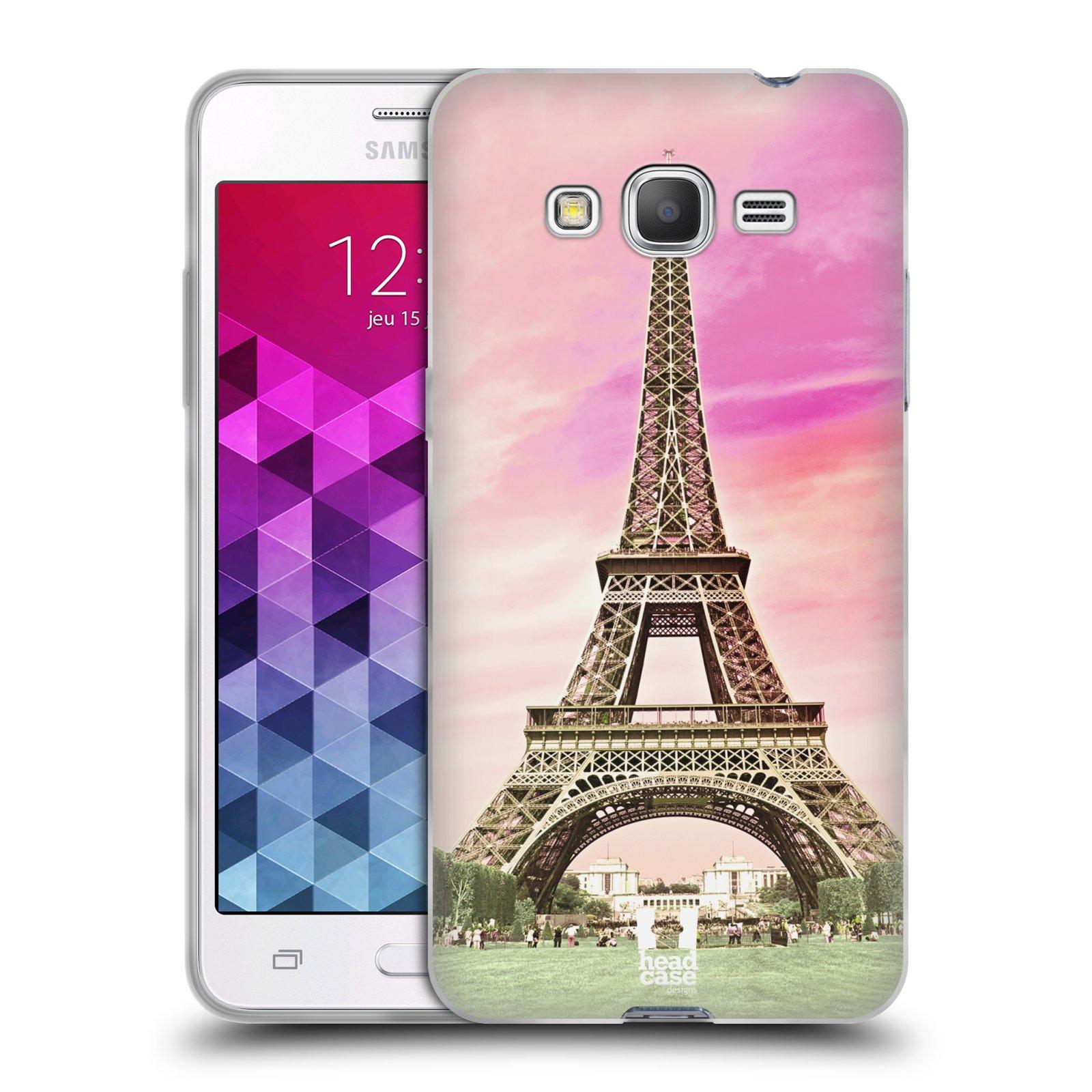Silikonové pouzdro na mobil Samsung Galaxy Grand Prime VE HEAD CASE RŮŽOVÁ  AIFELOVKA (Silikonový kryt fdb433f0e49