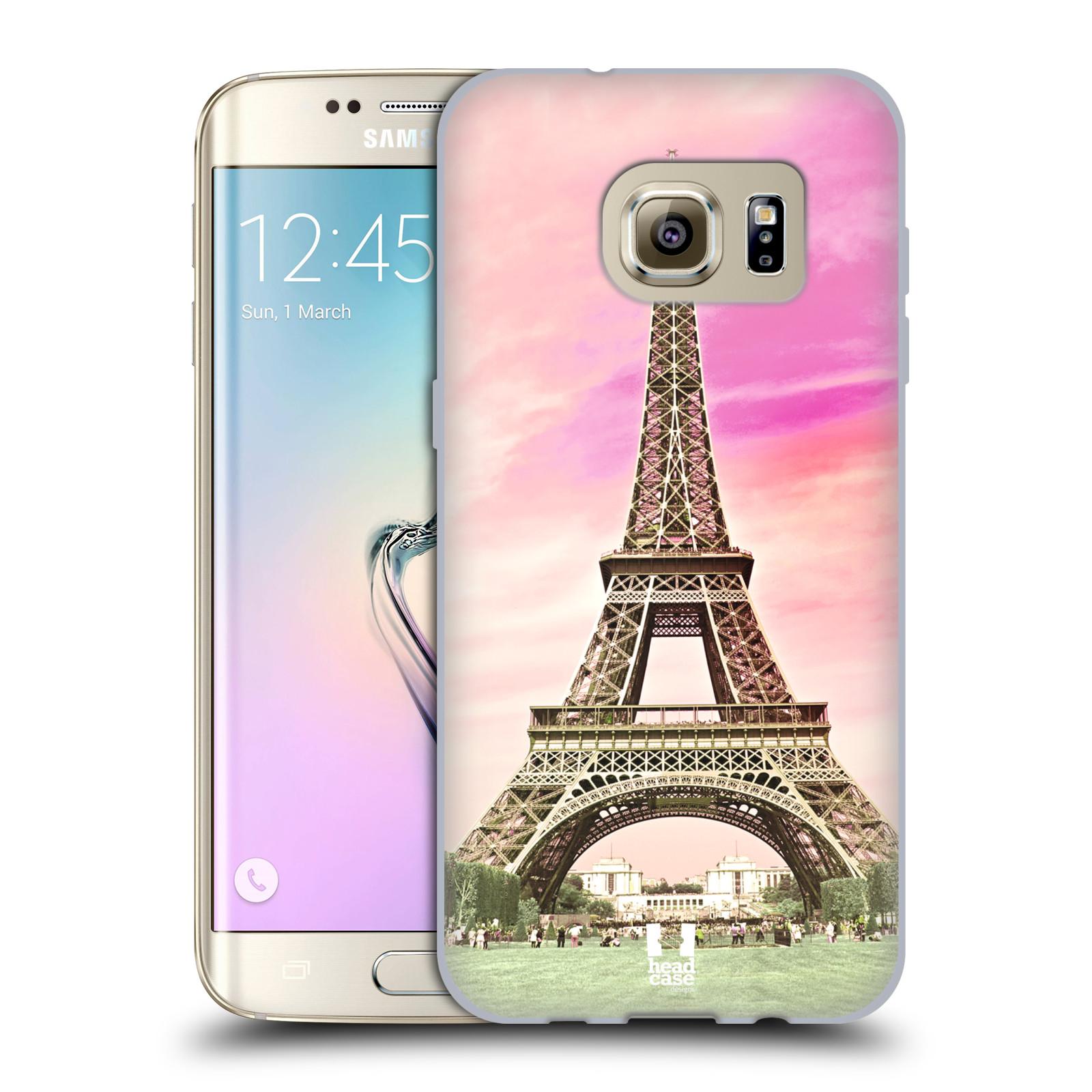 Silikonové pouzdro na mobil Samsung Galaxy S7 Edge HEAD CASE RŮŽOVÁ  AIFELOVKA (Silikonový kryt či cbde19267b5