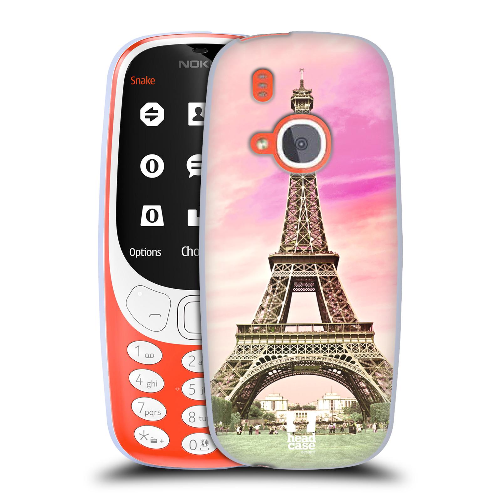 Silikonové pouzdro na mobil Nokia 3310 - Head Case - RŮŽOVÁ AIFELOVKA (Silikonový kryt či obal na mobilní telefon Nokia 3310 (2017) s motivem RŮŽOVÁ AIFELOVKA)