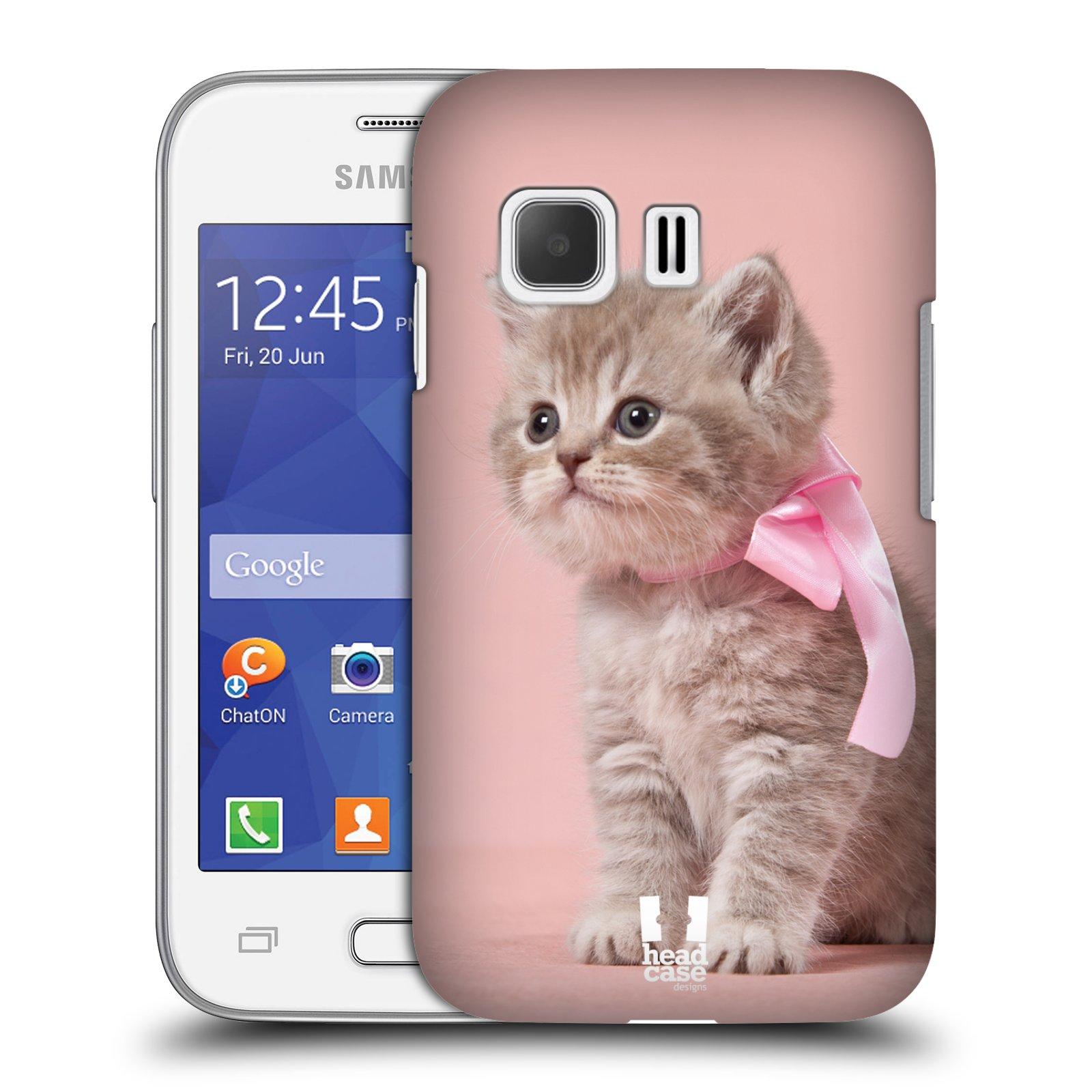 Plastové pouzdro na mobil Samsung Galaxy Young 2 HEAD CASE KOTĚ S MAŠLÍ