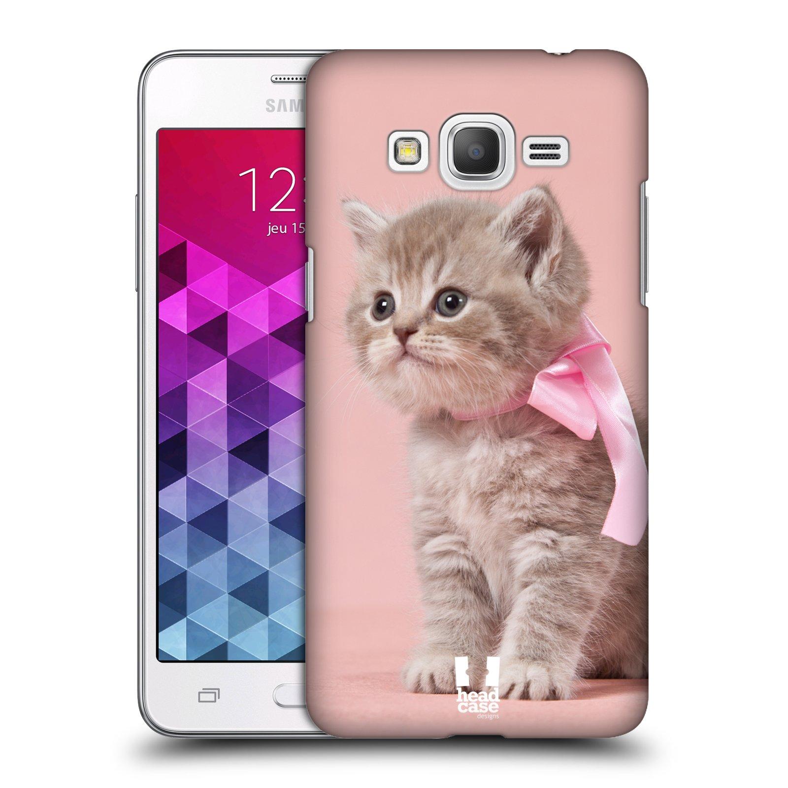 Plastové pouzdro na mobil Samsung Galaxy Grand Prime VE HEAD CASE KOTĚ S MAŠLÍ