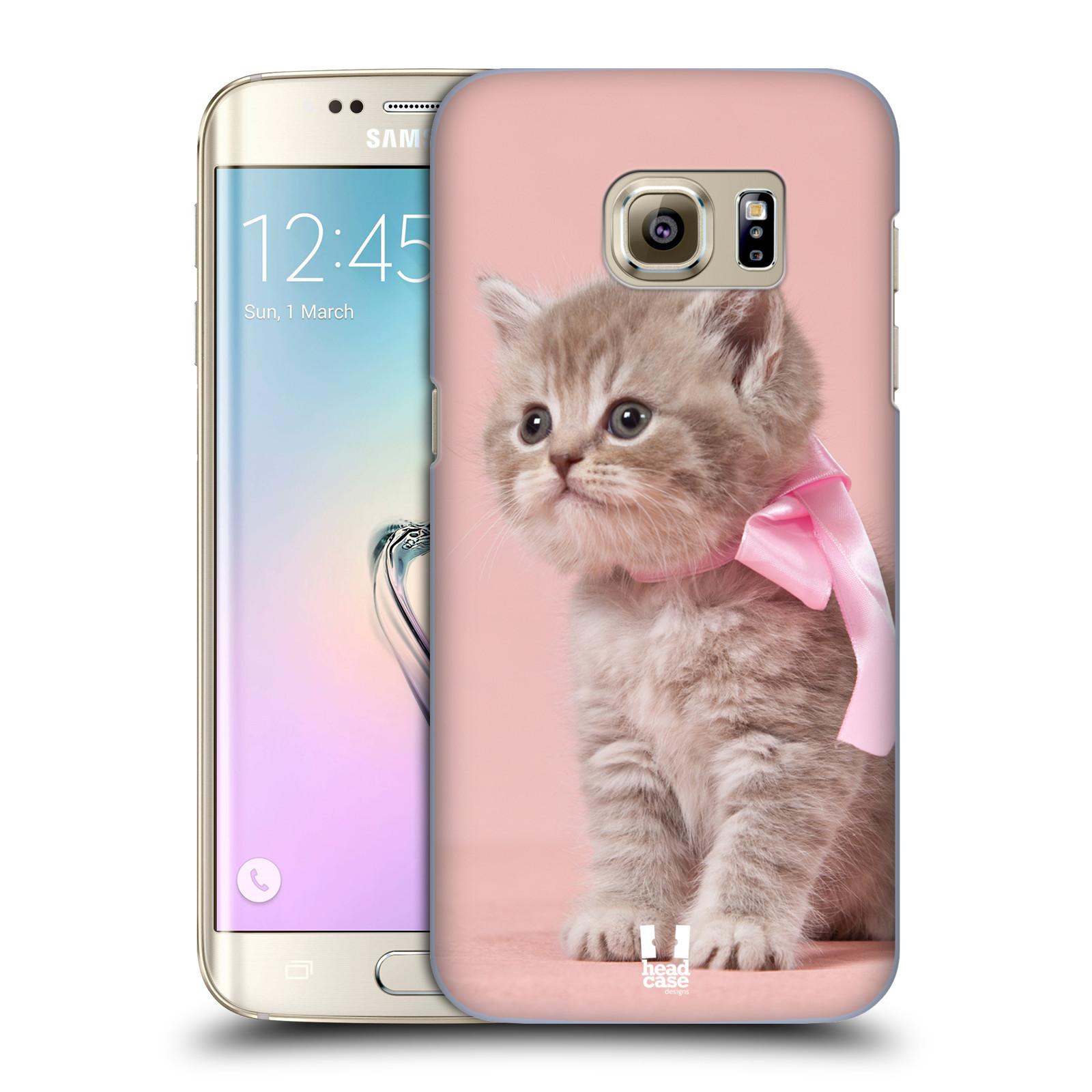 Plastové pouzdro na mobil Samsung Galaxy S7 Edge HEAD CASE KOTĚ S MAŠLÍ (Kryt či obal na mobilní telefon Samsung Galaxy S7 Edge SM-G935F)