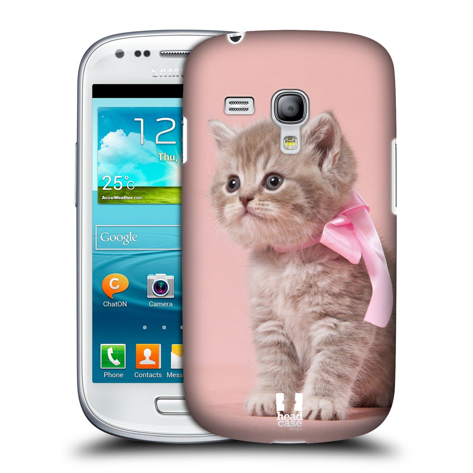 Plastové pouzdro na mobil Samsung Galaxy S3 Mini VE HEAD CASE KOTĚ S MAŠLÍ (Kryt či obal na mobilní telefon Samsung Galaxy S3 Mini VE GT-i8200)
