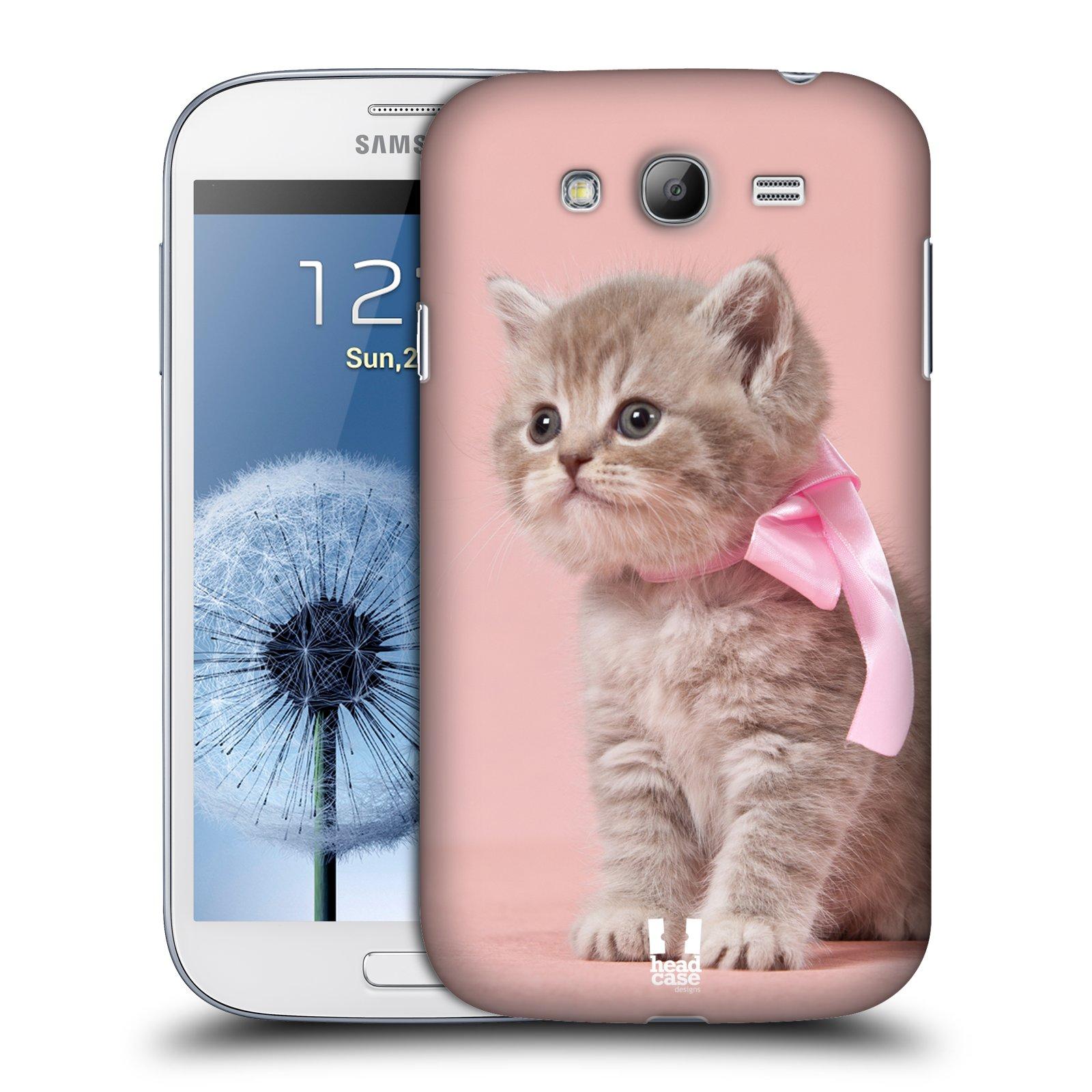 Plastové pouzdro na mobil Samsung Galaxy Grand Neo Plus HEAD CASE KOTĚ S MAŠLÍ (Kryt či obal na mobilní telefon Samsung Galaxy Grand Neo Plus GT-i9060i)