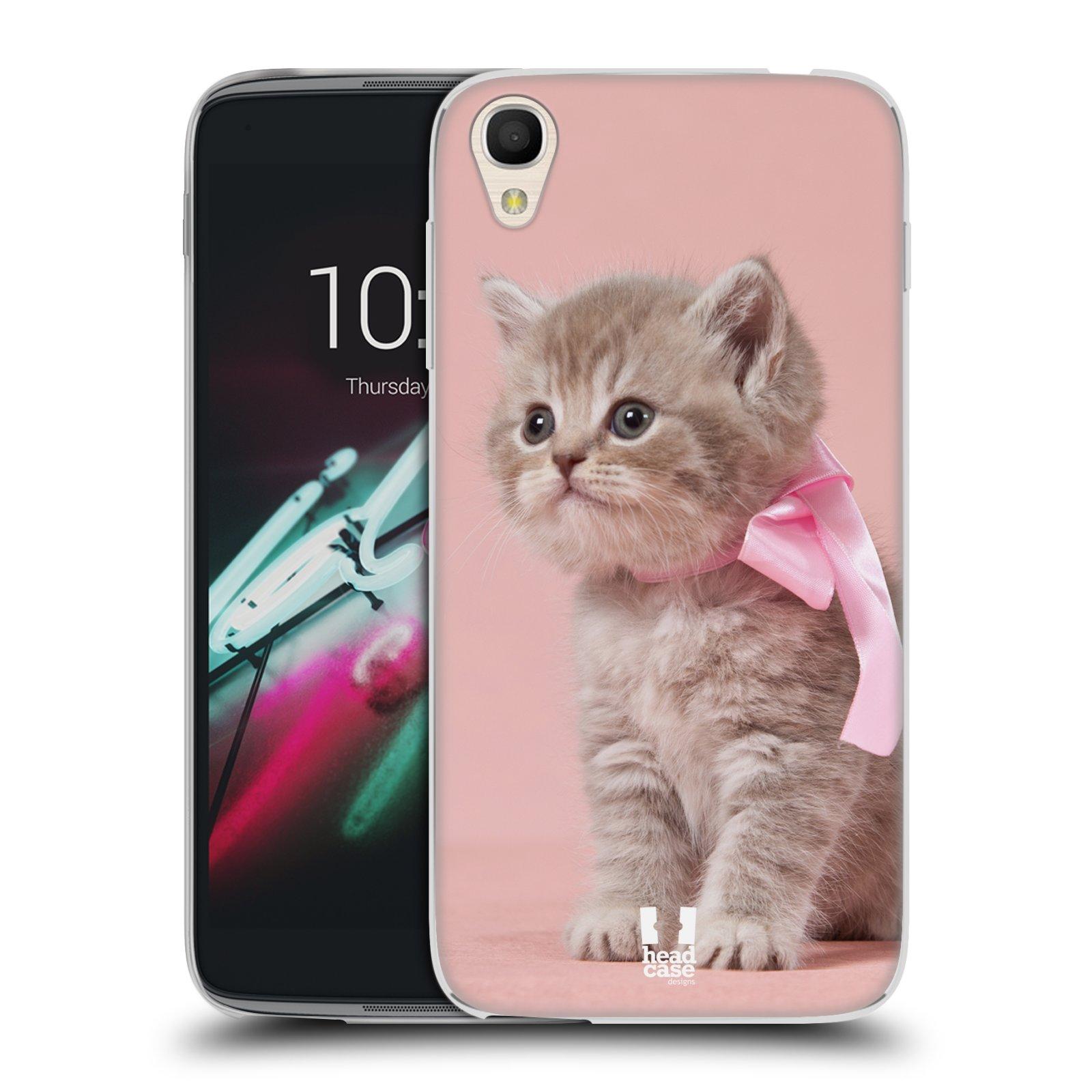 "Silikonové pouzdro na mobil Alcatel One Touch 6039Y Idol 3 HEAD CASE KOTĚ S MAŠLÍ (Silikonový kryt či obal na mobilní telefon Alcatel One Touch Idol 3 OT-6039Y s 4,7"" displejem)"