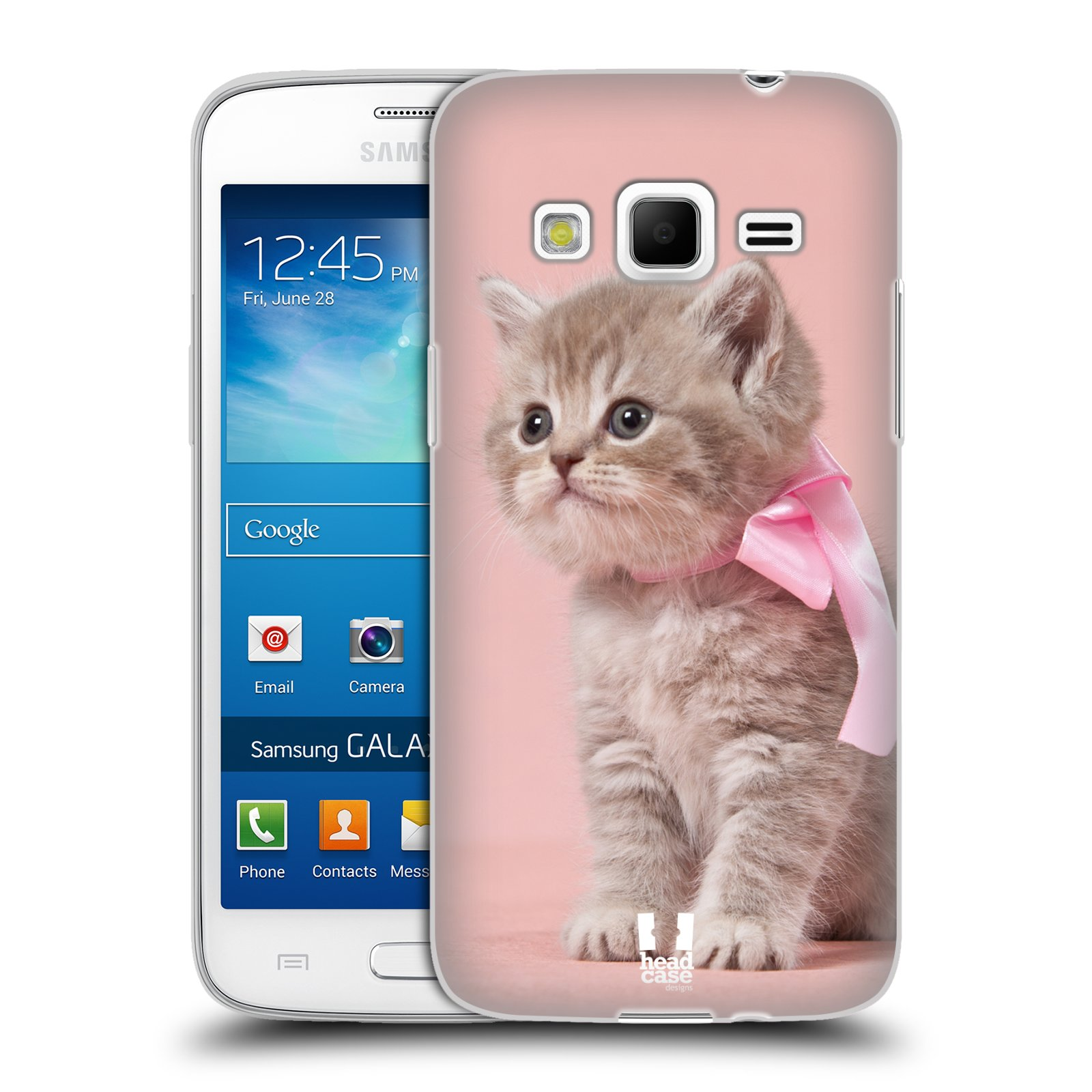 Silikonové pouzdro na mobil Samsung Galaxy Express 2 HEAD CASE KOTĚ S MAŠLÍ (Silikonový kryt či obal na mobilní telefon Samsung Galaxy Express 2 SM-G3815)