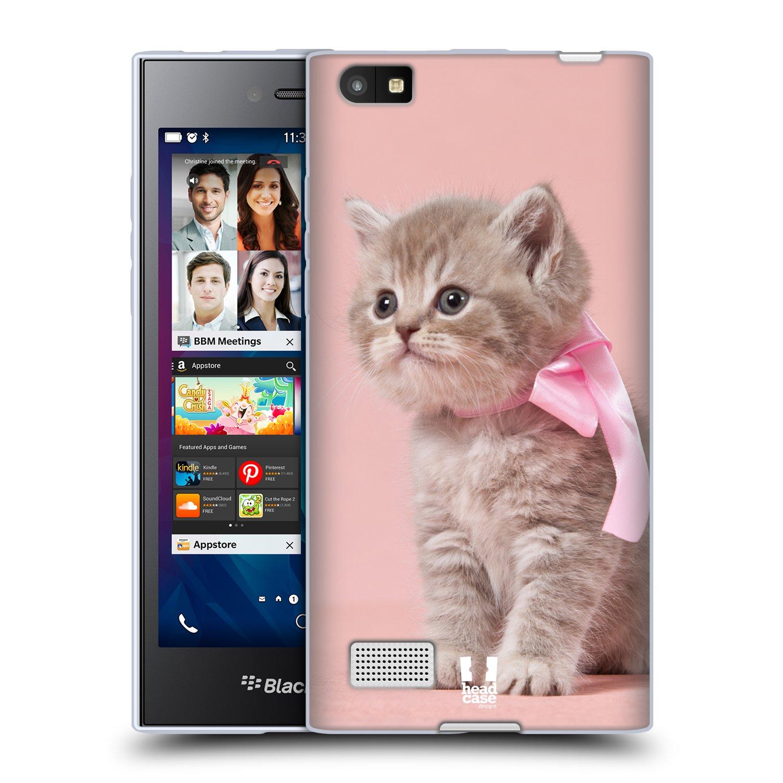 Silikonové pouzdro na mobil Blackberry Leap HEAD CASE KOTĚ S MAŠLÍ