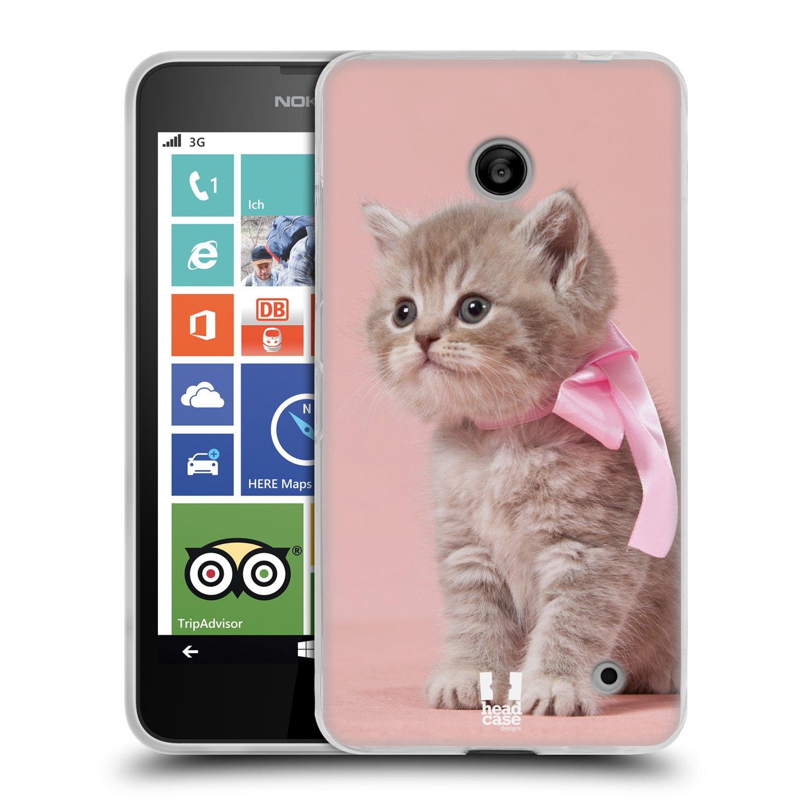Silikonové pouzdro na mobil Nokia Lumia 630 HEAD CASE KOTĚ S MAŠLÍ (Silikonový kryt či obal na mobilní telefon Nokia Lumia 630 a Nokia Lumia 630 Dual SIM)