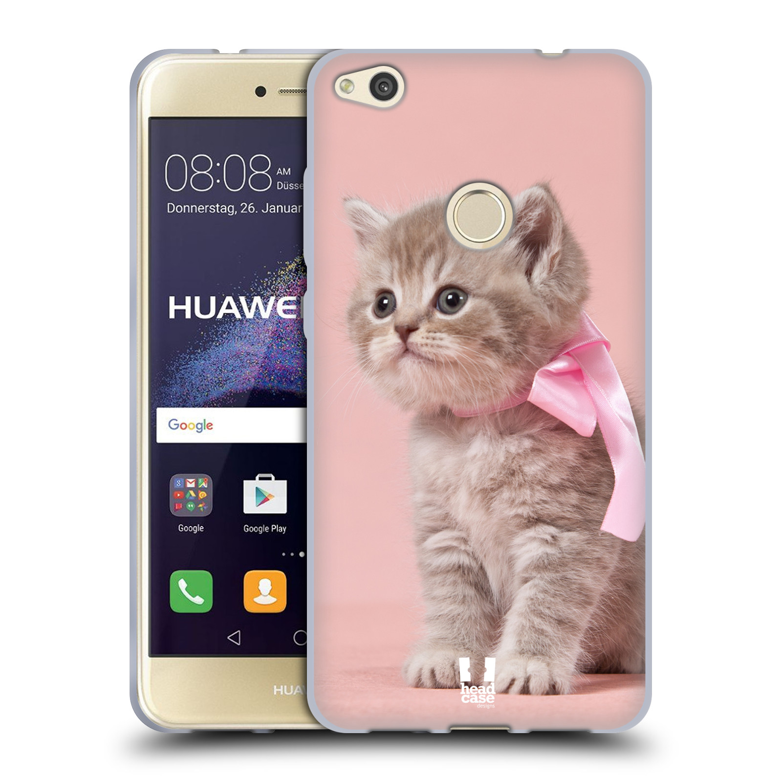 Silikonové pouzdro na mobil Huawei P9 Lite (2017) HEAD CASE KOTĚ S MAŠLÍ
