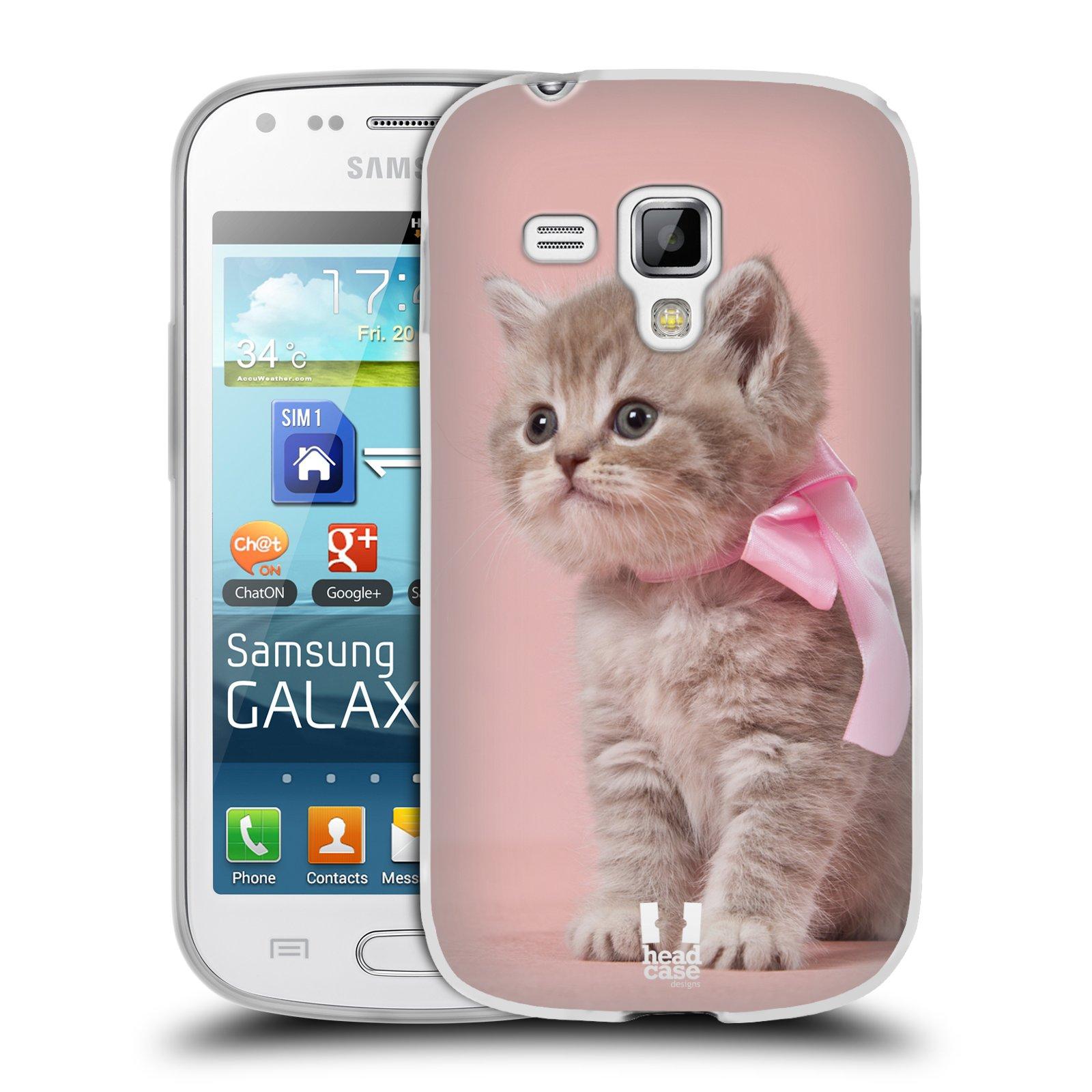 Silikonové pouzdro na mobil Samsung Galaxy Trend Plus HEAD CASE KOTĚ S MAŠLÍ (Silikonový kryt či obal na mobilní telefon Samsung Galaxy Trend Plus GT-S7580)