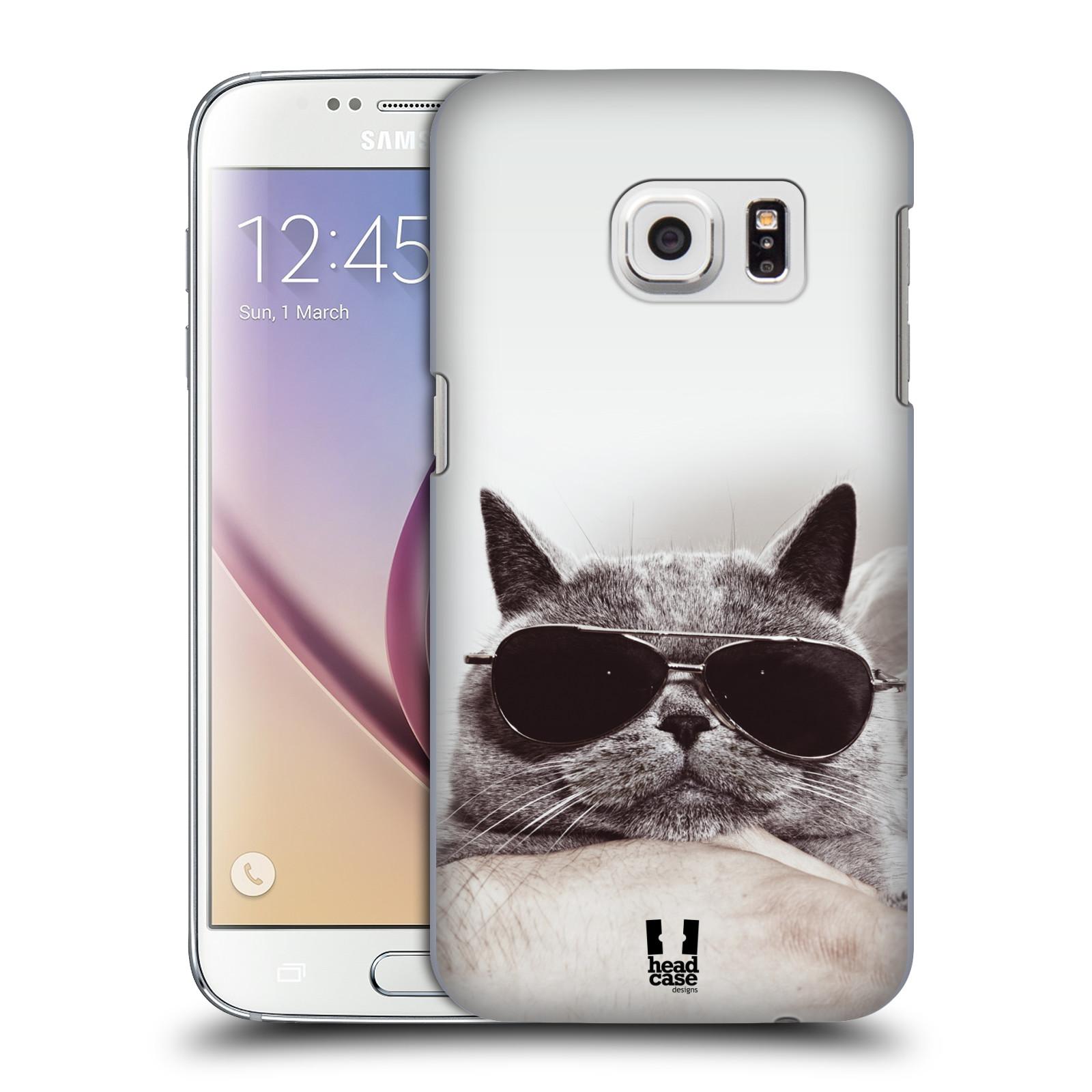 Plastové pouzdro na mobil Samsung Galaxy S7 HEAD CASE KOTĚ S BRÝLEMI (Kryt či obal na mobilní telefon Samsung Galaxy S7 SM-G930F)