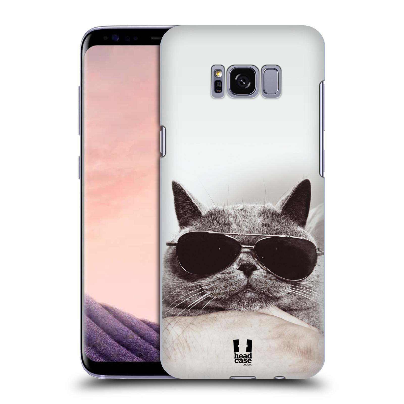 Plastové pouzdro na mobil Samsung Galaxy S8 Head Case KOTĚ S BRÝLEMI (Plastový kryt či obal na mobilní telefon Samsung Galaxy S8 SM-G9500)