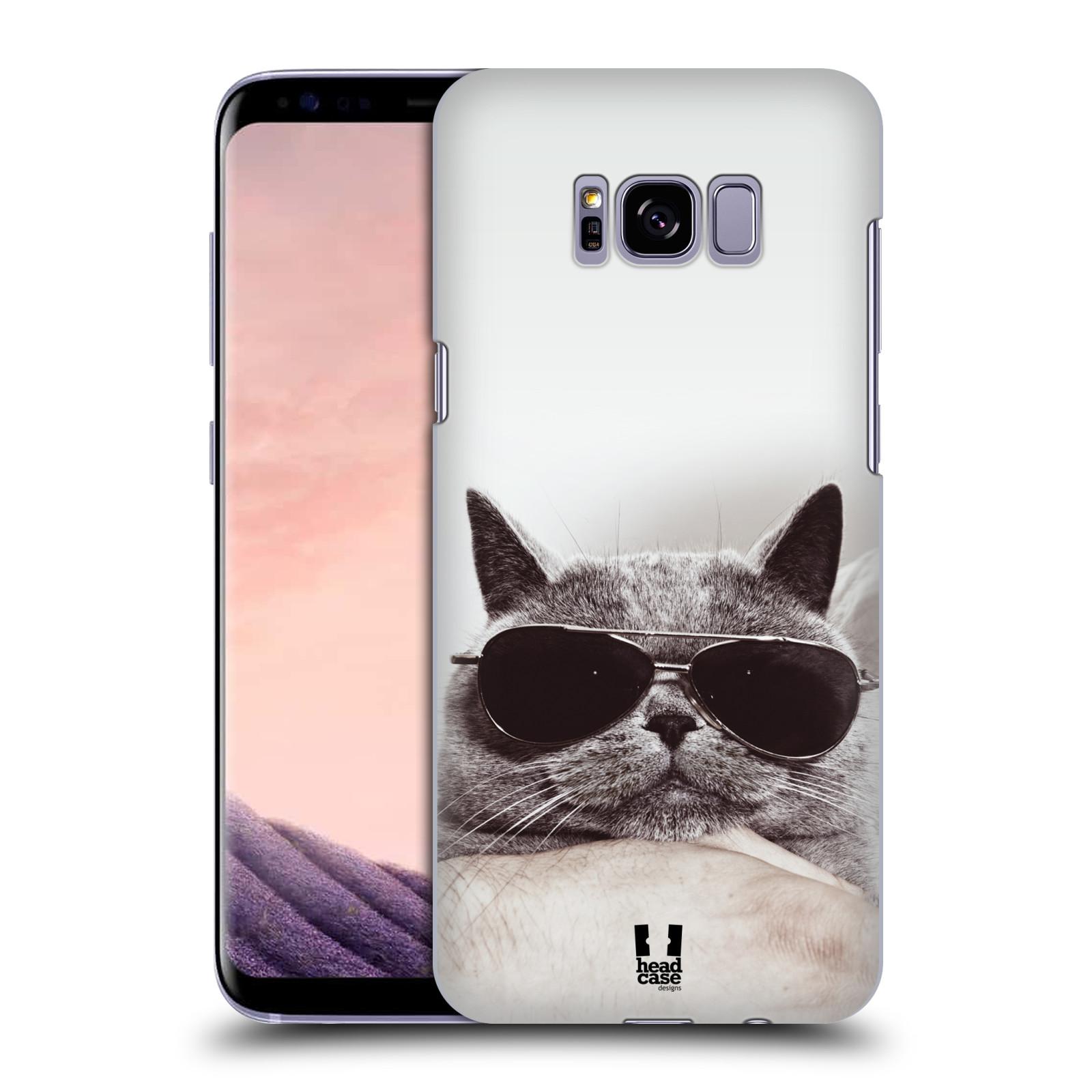 Plastové pouzdro na mobil Samsung Galaxy S8+ (Plus) Head Case KOTĚ S BRÝLEMI (Plastový kryt či obal na mobilní telefon Samsung Galaxy S8+ (Plus) SM-G9550)