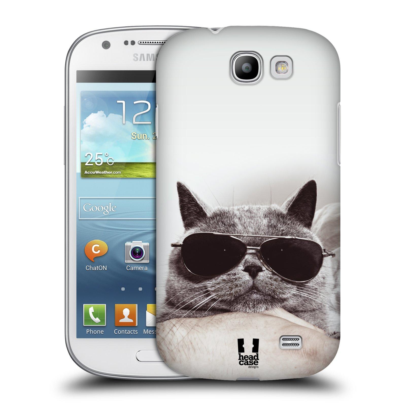 Plastové pouzdro na mobil Samsung Galaxy Express HEAD CASE KOTĚ S BRÝLEMI (Kryt či obal na mobilní telefon Samsung Galaxy Express GT-i8730)