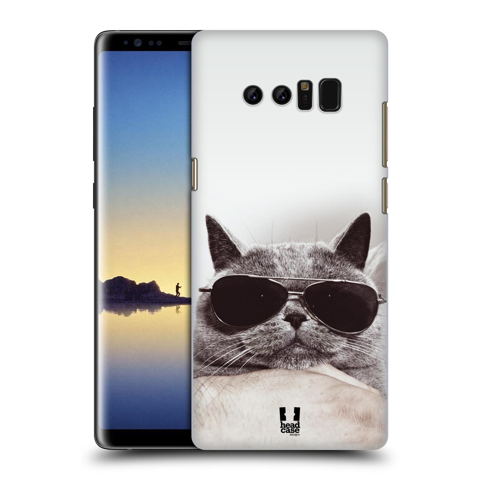 Plastové pouzdro na mobil Samsung Galaxy Note 8 - Head Case - KOTĚ S BRÝLEMI (Plastový kryt či obal na mobilní telefon Samsung Galaxy Note 8 SM-N950 s motivem KOTĚ S BRÝLEMI)