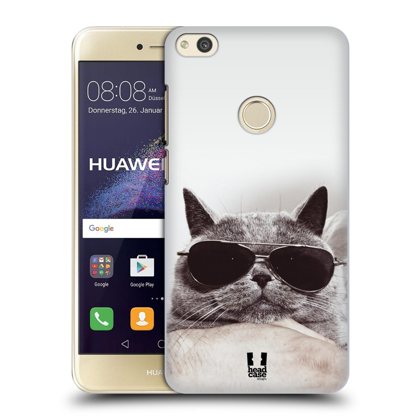 Plastové pouzdro na mobil Huawei P9 Lite (2017) - Head Case KOTĚ S BRÝLEMI