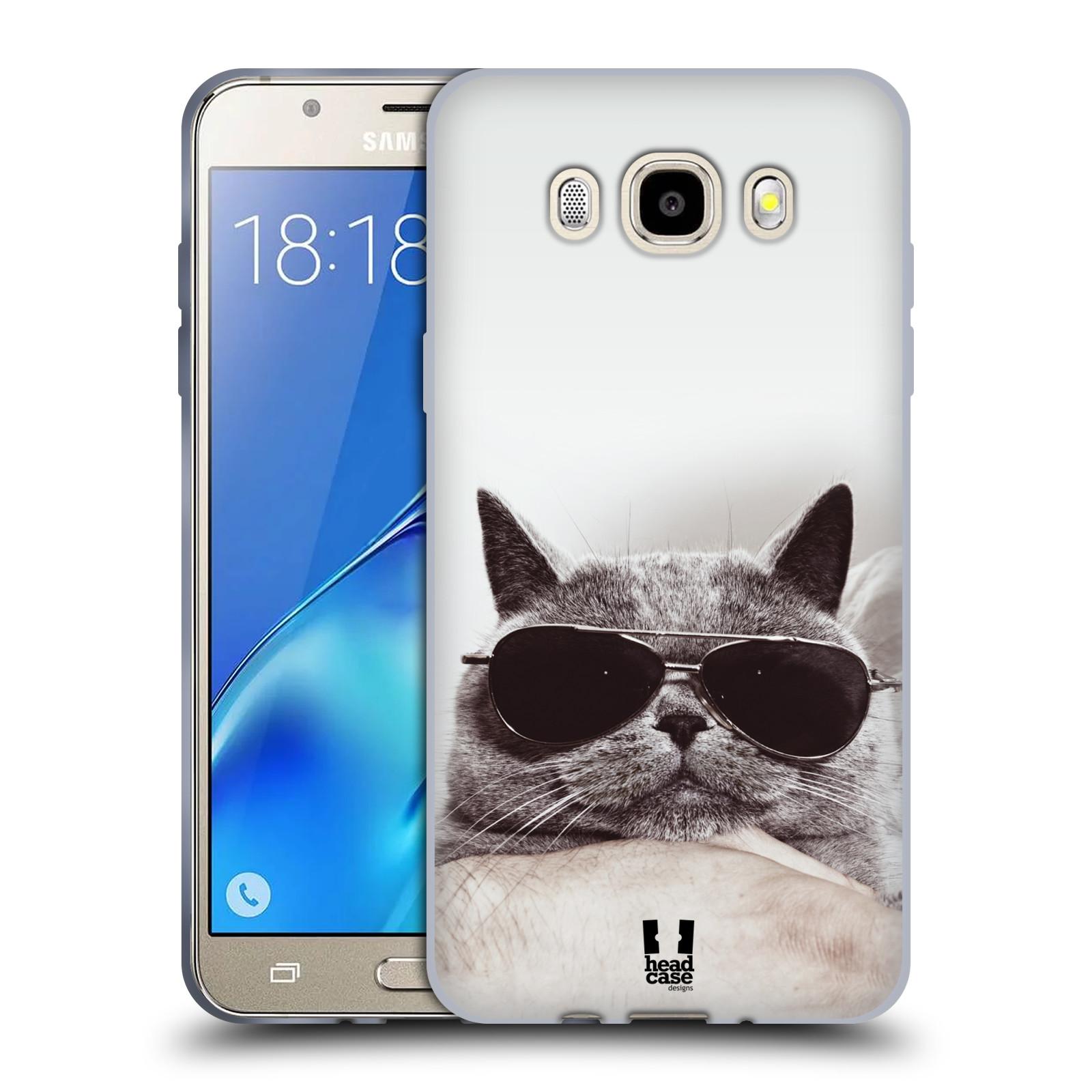 Silikonové pouzdro na mobil Samsung Galaxy J5 (2016) HEAD CASE KOTĚ S BRÝLEMI (Silikonový kryt či obal na mobilní telefon Samsung Galaxy J5 (2016) SM-J510)