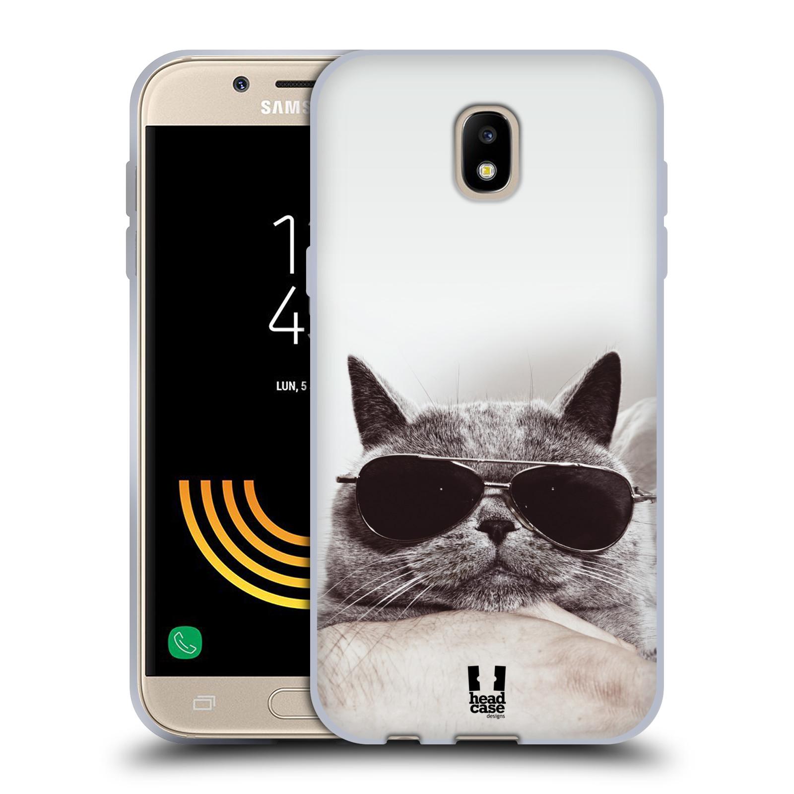 Silikonové pouzdro na mobil Samsung Galaxy J5 (2017) - Head Case - KOTĚ S BRÝLEMI (Silikonový kryt či obal na mobilní telefon Samsung Galaxy J5 2017 SM-J530F/DS s motivem KOTĚ S BRÝLEMI)