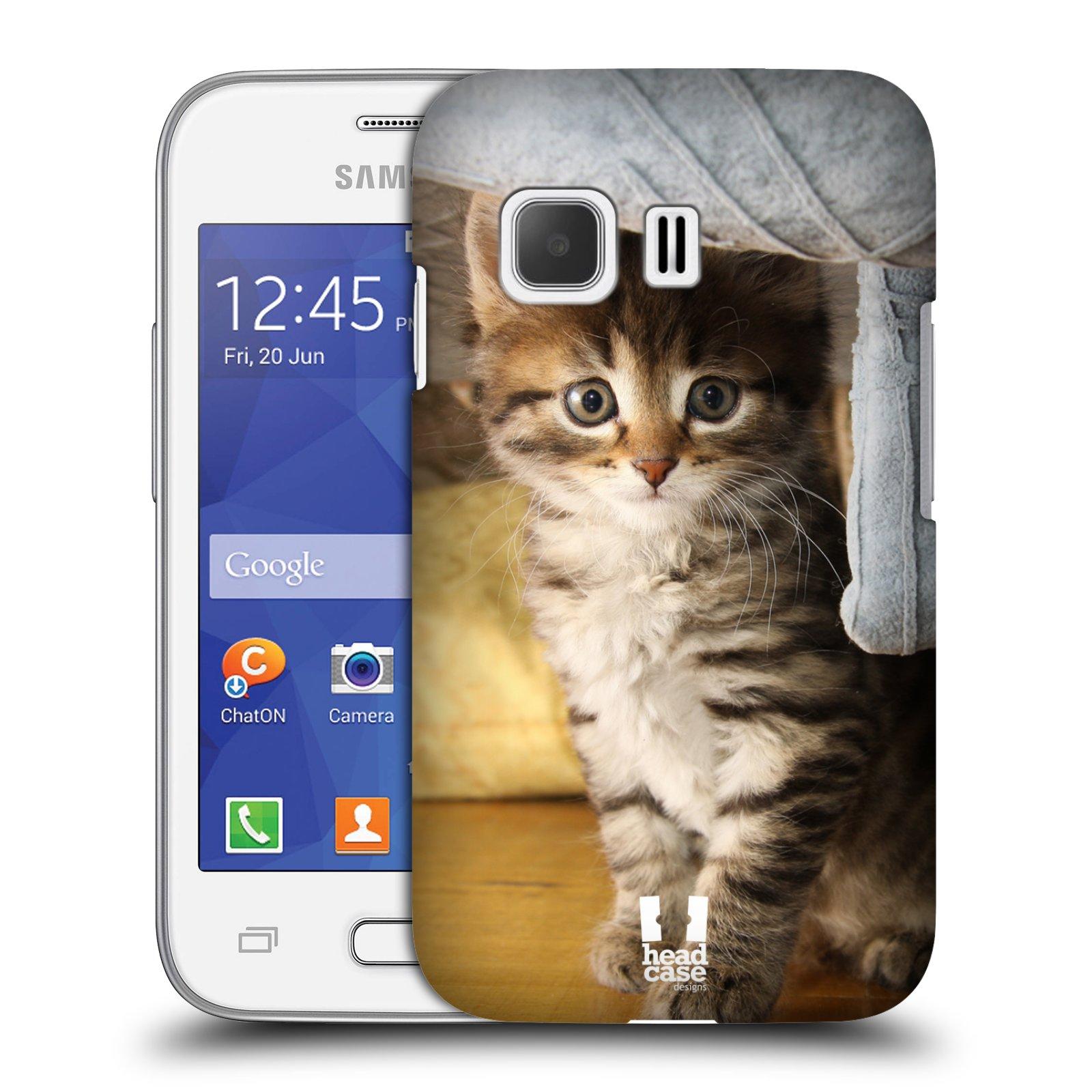 Plastové pouzdro na mobil Samsung Galaxy Young 2 HEAD CASE ZVÍDAVÉ KOTĚ