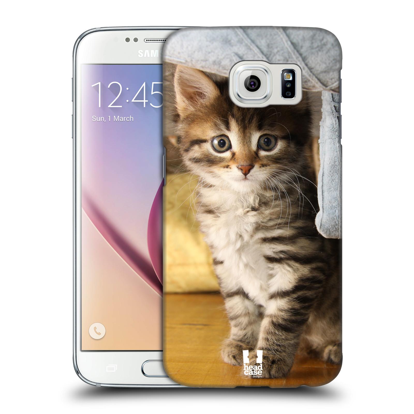Plastové pouzdro na mobil Samsung Galaxy S6 HEAD CASE ZVÍDAVÉ KOTĚ