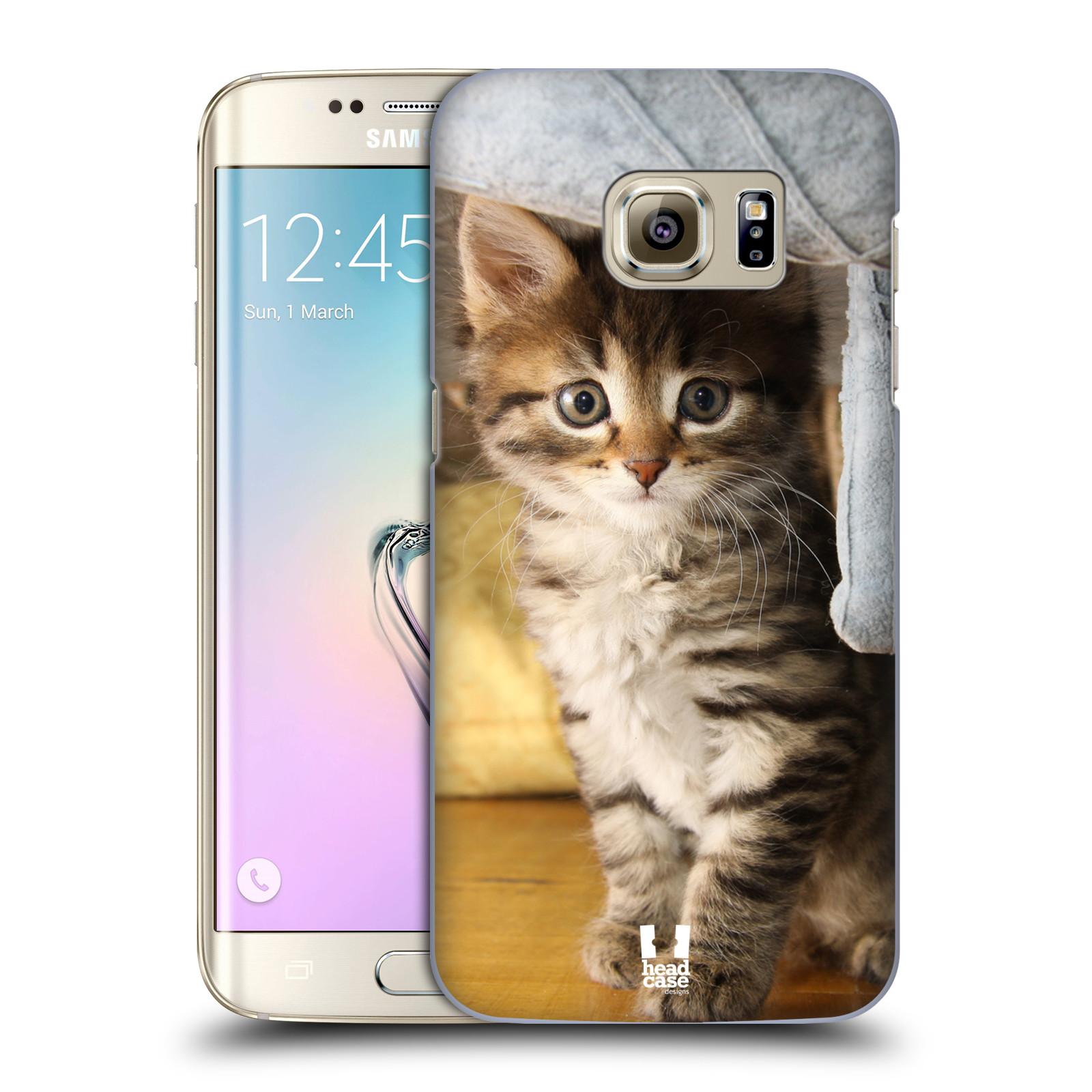 Plastové pouzdro na mobil Samsung Galaxy S7 Edge HEAD CASE ZVÍDAVÉ KOTĚ (Kryt či obal na mobilní telefon Samsung Galaxy S7 Edge SM-G935F)