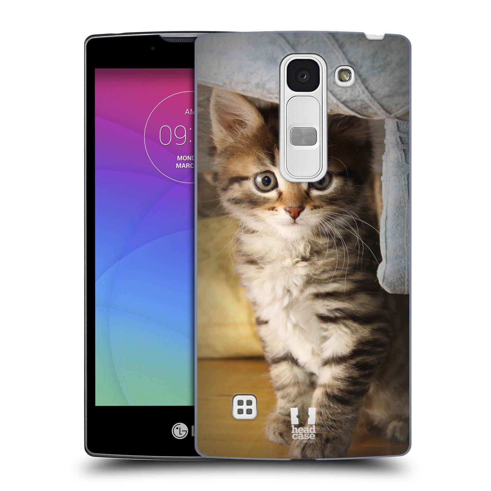 Plastové pouzdro na mobil LG Spirit LTE HEAD CASE ZVÍDAVÉ KOTĚ (Kryt či obal na mobilní telefon LG Spirit H420 a LG Spirit LTE H440N)