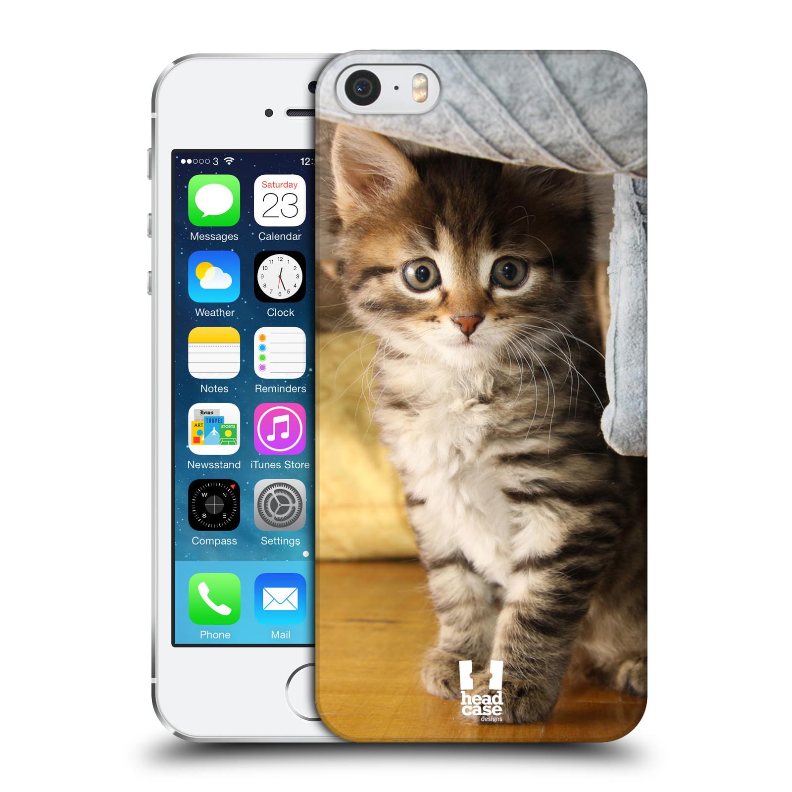 Plastové pouzdro na mobil Apple iPhone SE, 5 a 5S HEAD CASE ZVÍDAVÉ KOTĚ