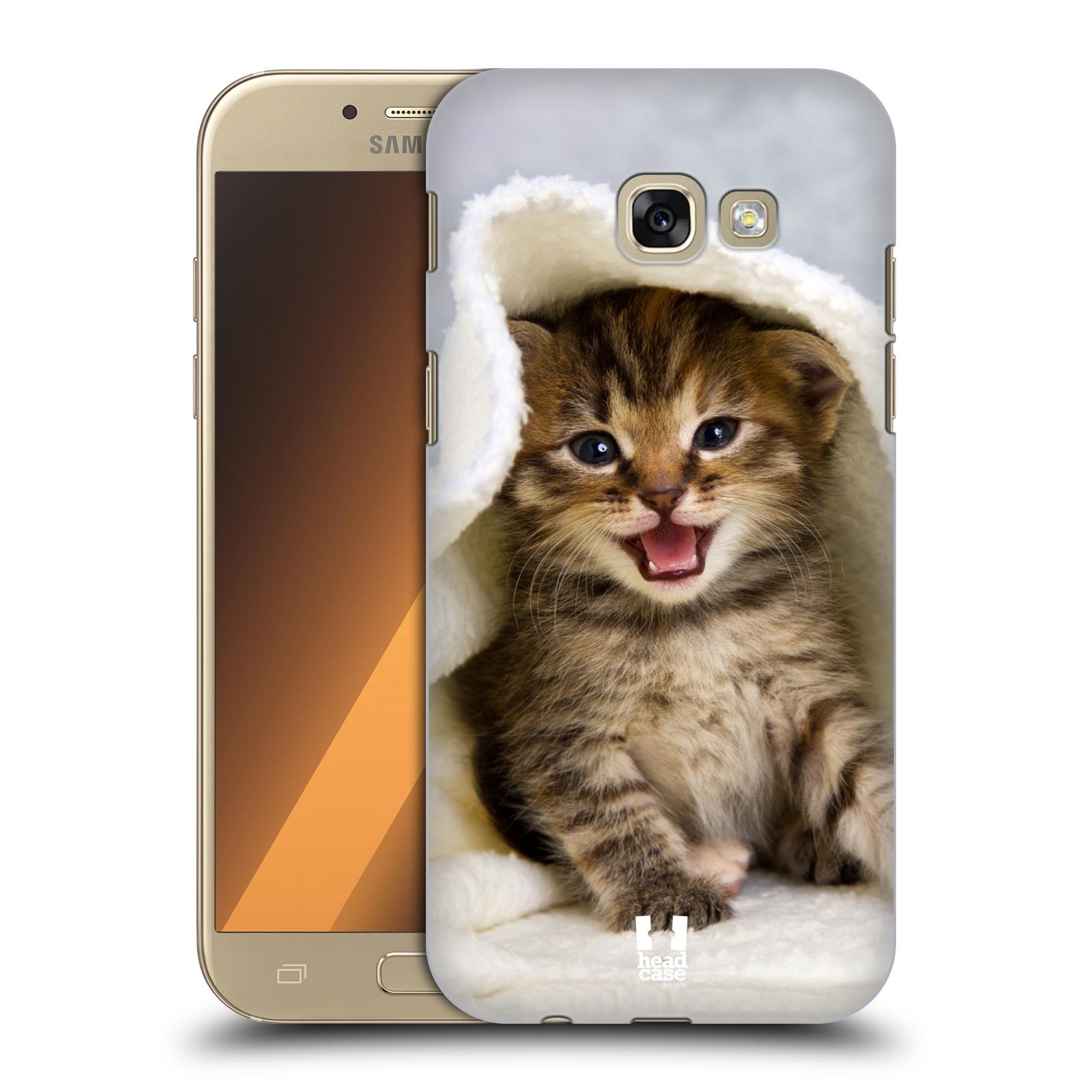 Plastové pouzdro na mobil Samsung Galaxy A5 (2017) HEAD CASE KOTĚ V OSUŠCE