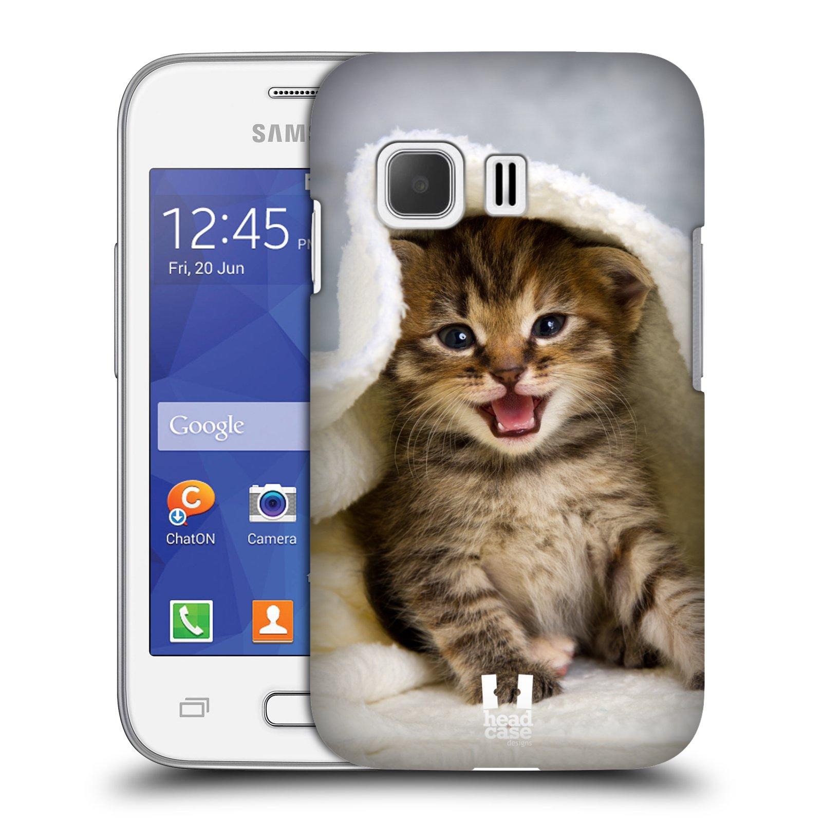 Plastové pouzdro na mobil Samsung Galaxy Young 2 HEAD CASE KOTĚ V OSUŠCE