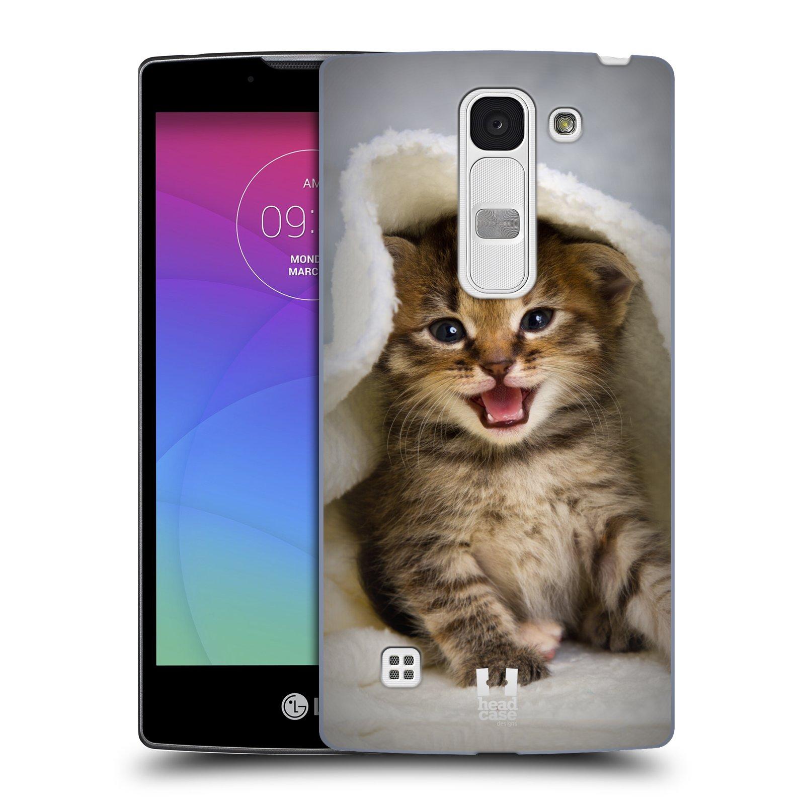 Plastové pouzdro na mobil LG Spirit LTE HEAD CASE KOTĚ V OSUŠCE (Kryt či obal na mobilní telefon LG Spirit H420 a LG Spirit LTE H440N)