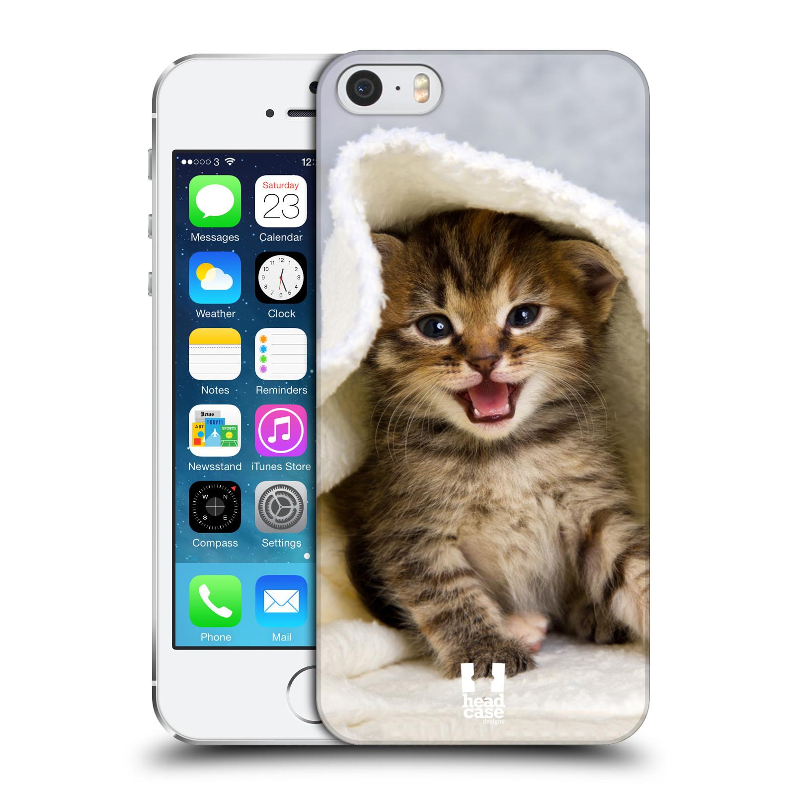 Plastové pouzdro na mobil Apple iPhone SE, 5 a 5S HEAD CASE KOTĚ V OSUŠCE