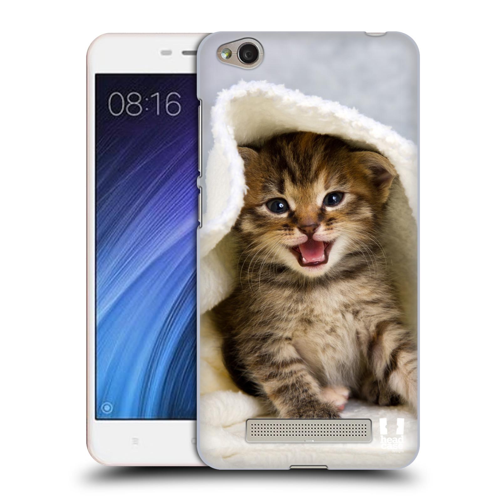 Plastové pouzdro na mobil Xiaomi Redmi 4A HEAD CASE KOTĚ V OSUŠCE