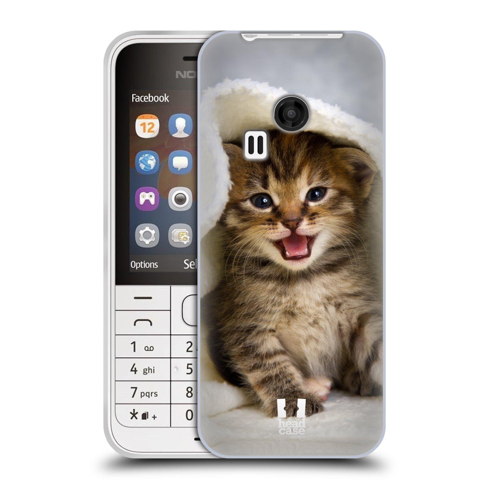 Silikonové pouzdro na mobil Nokia 220 HEAD CASE KOTĚ V OSUŠCE