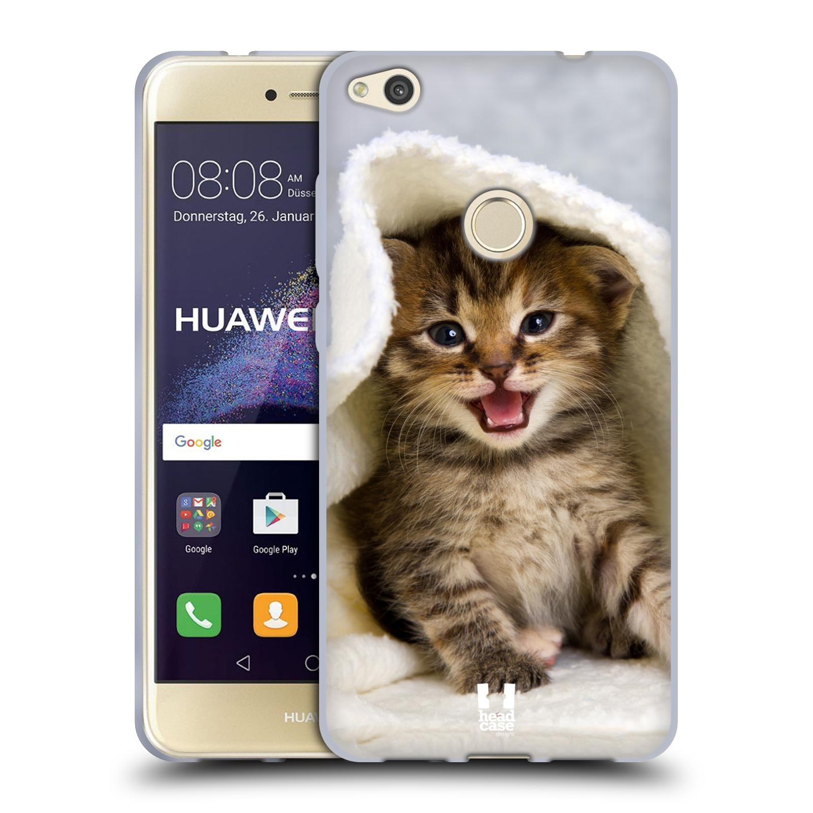 Silikonové pouzdro na mobil Huawei P9 Lite (2017) HEAD CASE KOTĚ V OSUŠCE