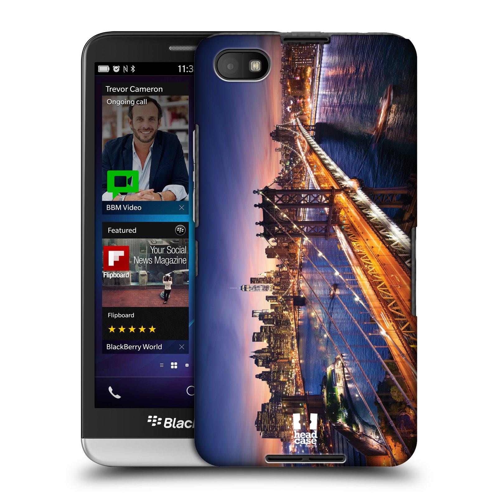 Plastové pouzdro na mobil Blackberry Z30 HEAD CASE SUNSET SKYLINE BROADWAY (Kryt či obal na mobilní telefon Blackberry Z30)
