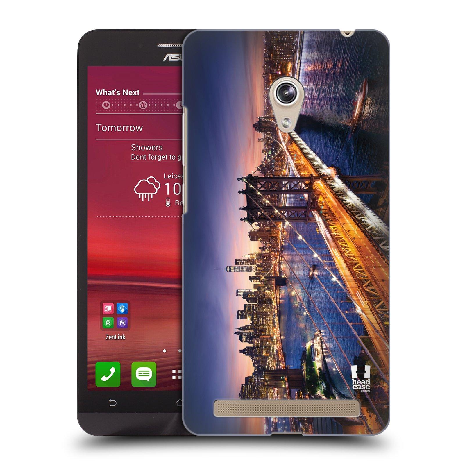 Plastové pouzdro na mobil Asus Zenfone 6 HEAD CASE SUNSET SKYLINE BROADWAY (Kryt či obal na mobilní telefon Asus Zenfone 6 A600CG / A601CG)