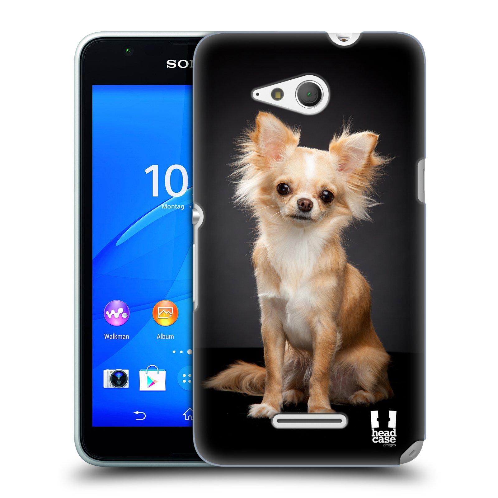 Plastové pouzdro na mobil Sony Xperia E4g E2003 HEAD CASE ČIVAVA (Kryt či obal na mobilní telefon Sony Xperia E4g a E4g Dual SIM)