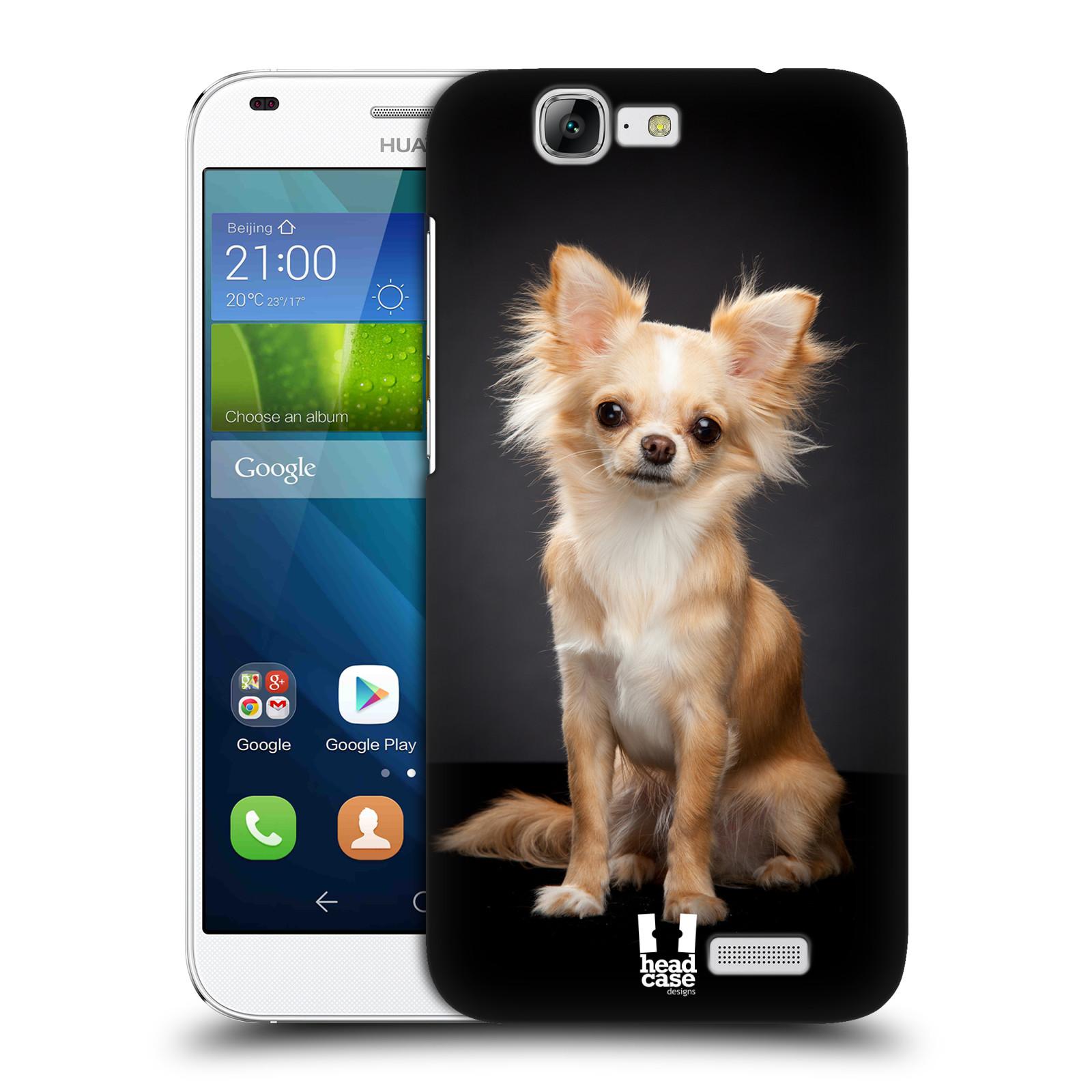 Plastové pouzdro na mobil Huawei Ascend G7 HEAD CASE ČIVAVA (Kryt či obal na mobilní telefon Huawei Ascend G7)