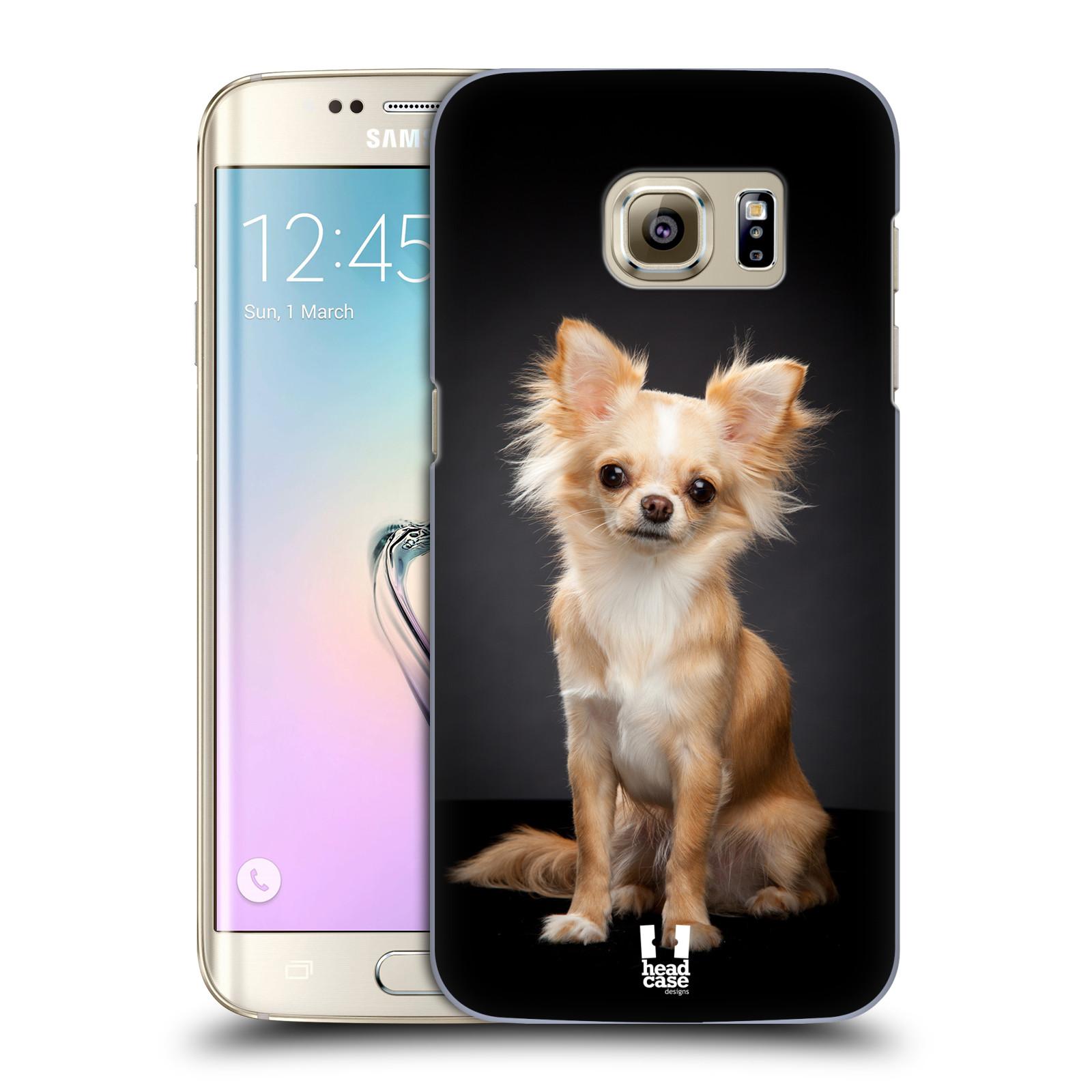 Plastové pouzdro na mobil Samsung Galaxy S7 Edge HEAD CASE ČIVAVA (Kryt či obal na mobilní telefon Samsung Galaxy S7 Edge SM-G935F)