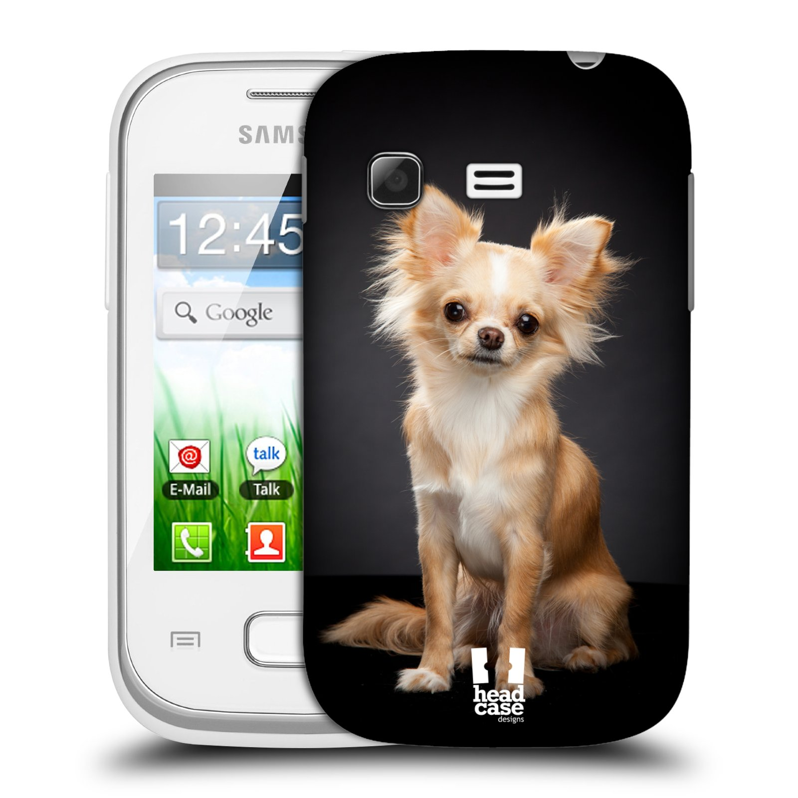 Plastové pouzdro na mobil Samsung Galaxy Pocket HEAD CASE ČIVAVA (Kryt či obal na mobilní telefon Samsung Galaxy Pocket GT-S5300)