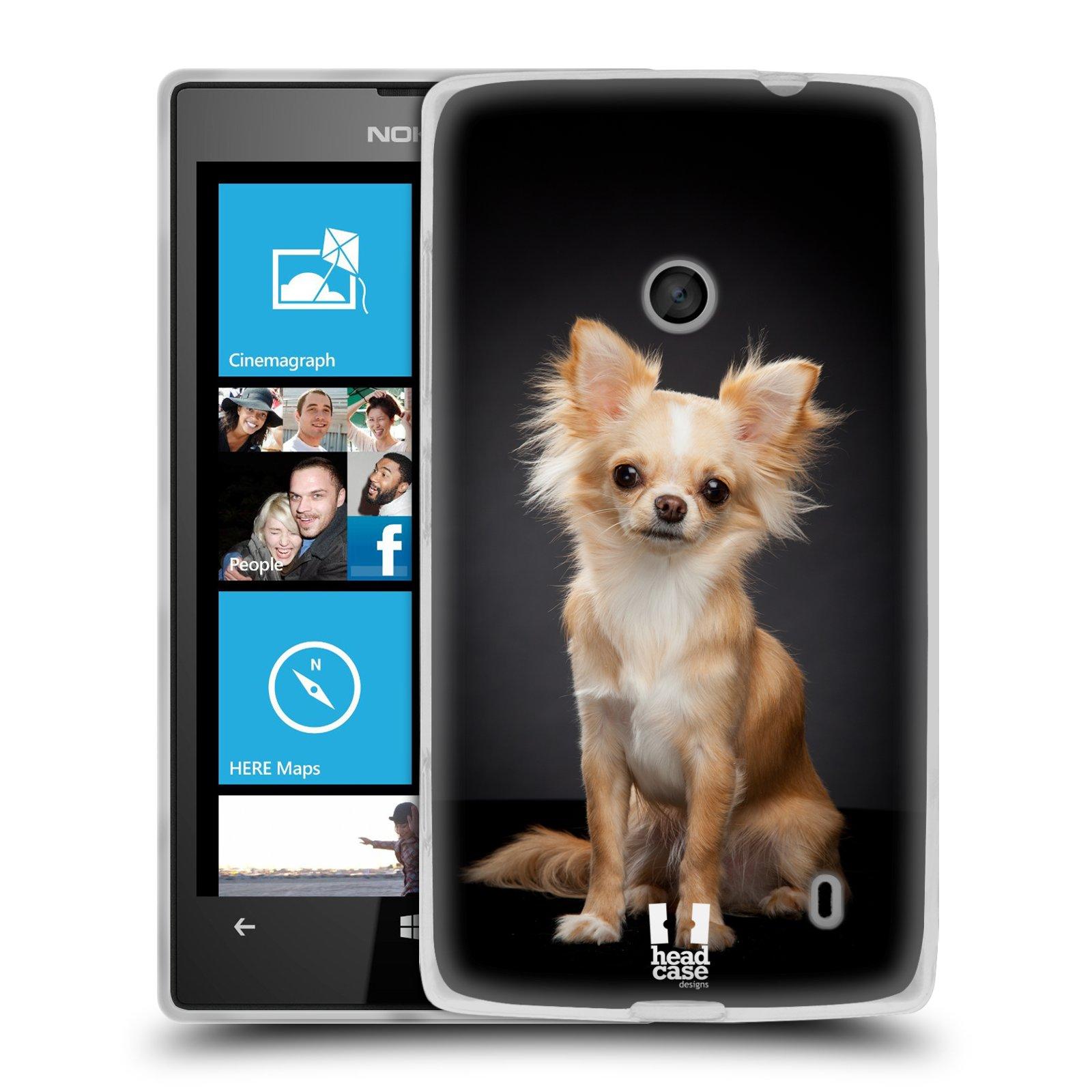 Silikonové pouzdro na mobil Nokia Lumia 520 HEAD CASE ČIVAVA (Silikonový Kryt či obal na mobilní telefon Nokia Lumia 520)