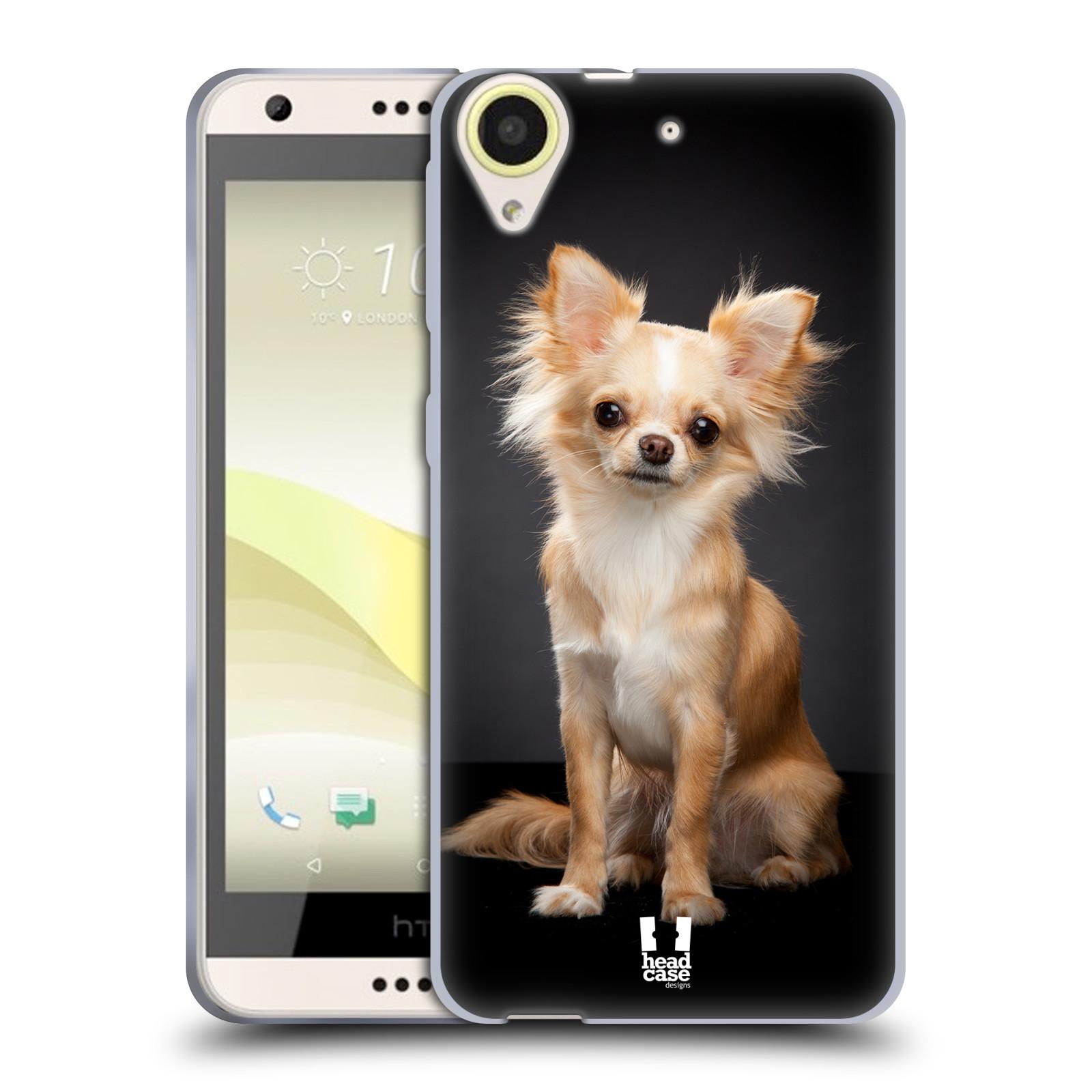 Silikonové pouzdro na mobil HTC Desire 650 HEAD CASE ČIVAVA (Silikonový kryt či obal na mobilní telefon HTC Desire 650)