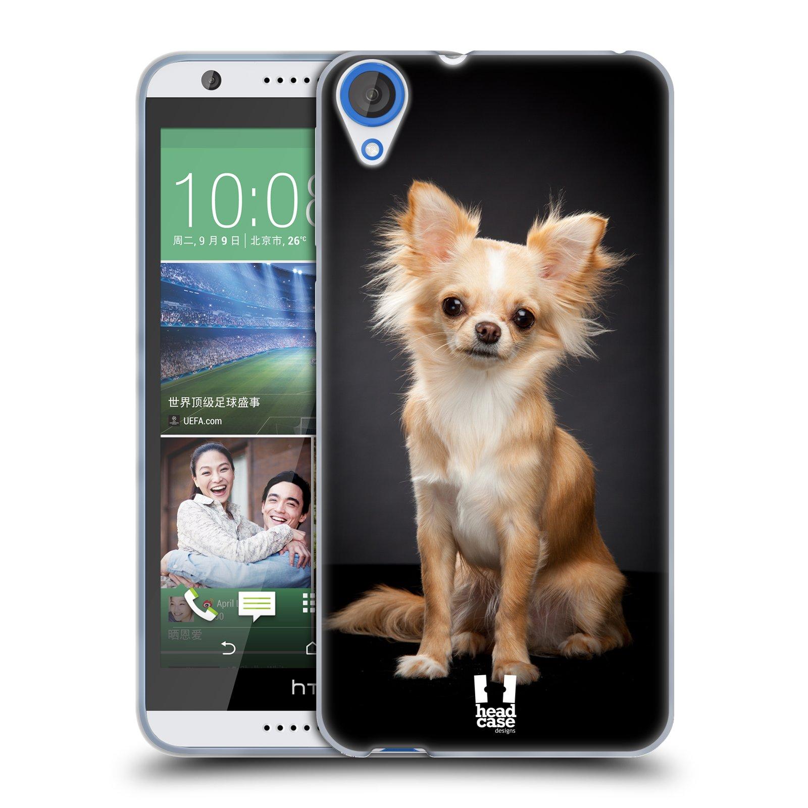 Silikonové pouzdro na mobil HTC Desire 820 HEAD CASE ČIVAVA (Silikonový kryt či obal na mobilní telefon HTC Desire 820)
