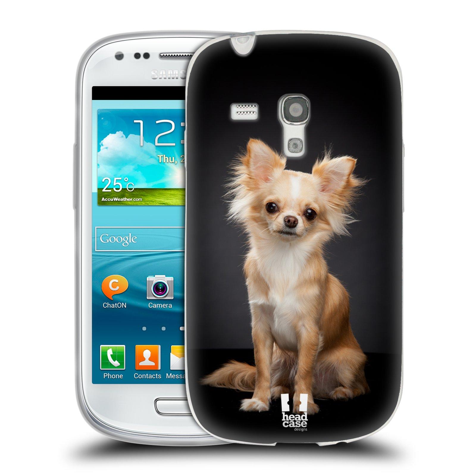 Silikonové pouzdro na mobil Samsung Galaxy S III Mini HEAD CASE ČIVAVA (Silikonový kryt či obal na mobilní telefon Samsung Galaxy S III Mini GT-i8190)