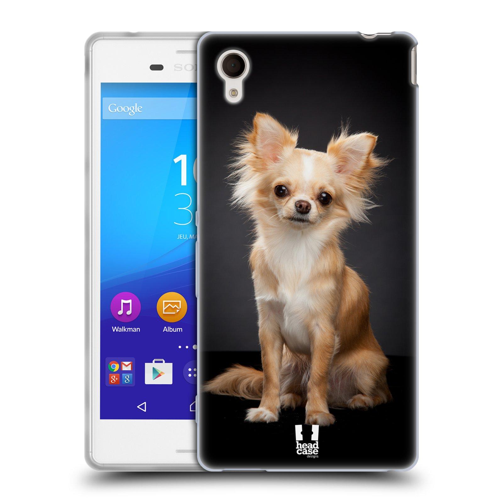 Silikonové pouzdro na mobil Sony Xperia M4 Aqua E2303 HEAD CASE ČIVAVA (Silikonový kryt či obal na mobilní telefon Sony Xperia M4 Aqua a M4 Aqua Dual SIM)
