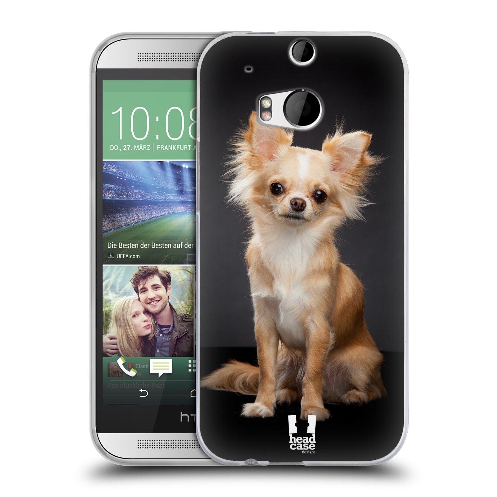 Silikonové pouzdro na mobil HTC ONE M8 HEAD CASE ČIVAVA (Silikonový kryt či obal na mobilní telefon HTC ONE M8)