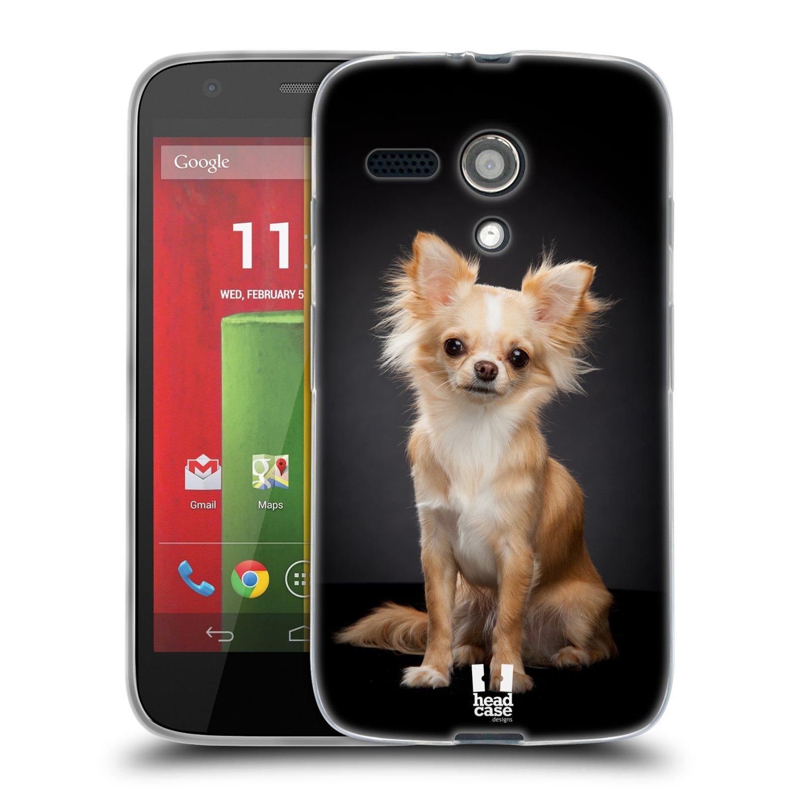 Silikonové pouzdro na mobil Motorola Moto G HEAD CASE ČIVAVA (Silikonový kryt či obal na mobilní telefon Motorola Moto G)