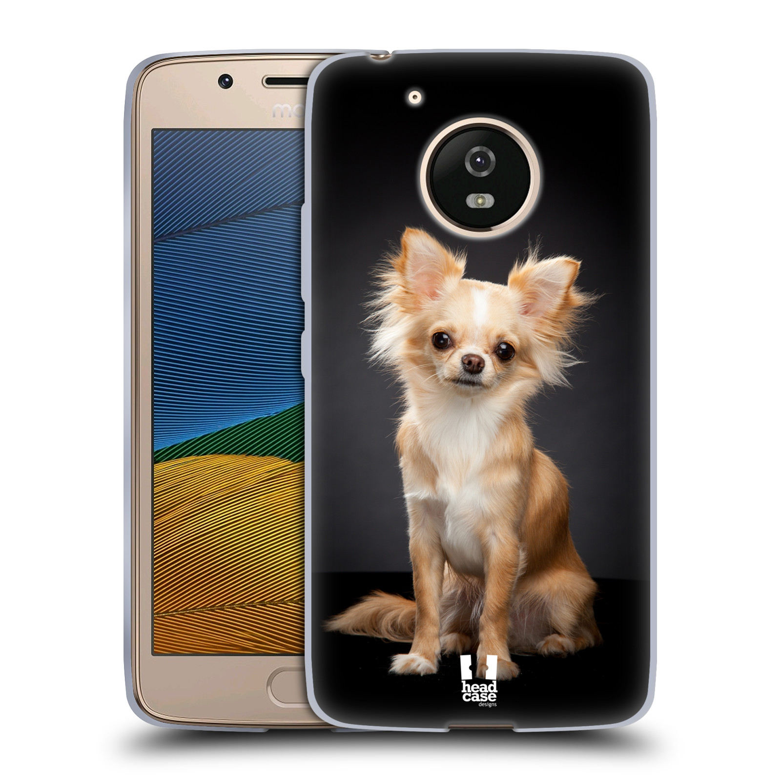 Silikonové pouzdro na mobil Lenovo Moto G5 - Head Case ČIVAVA (Silikonový kryt či obal na mobilní telefon Lenovo Moto G5)