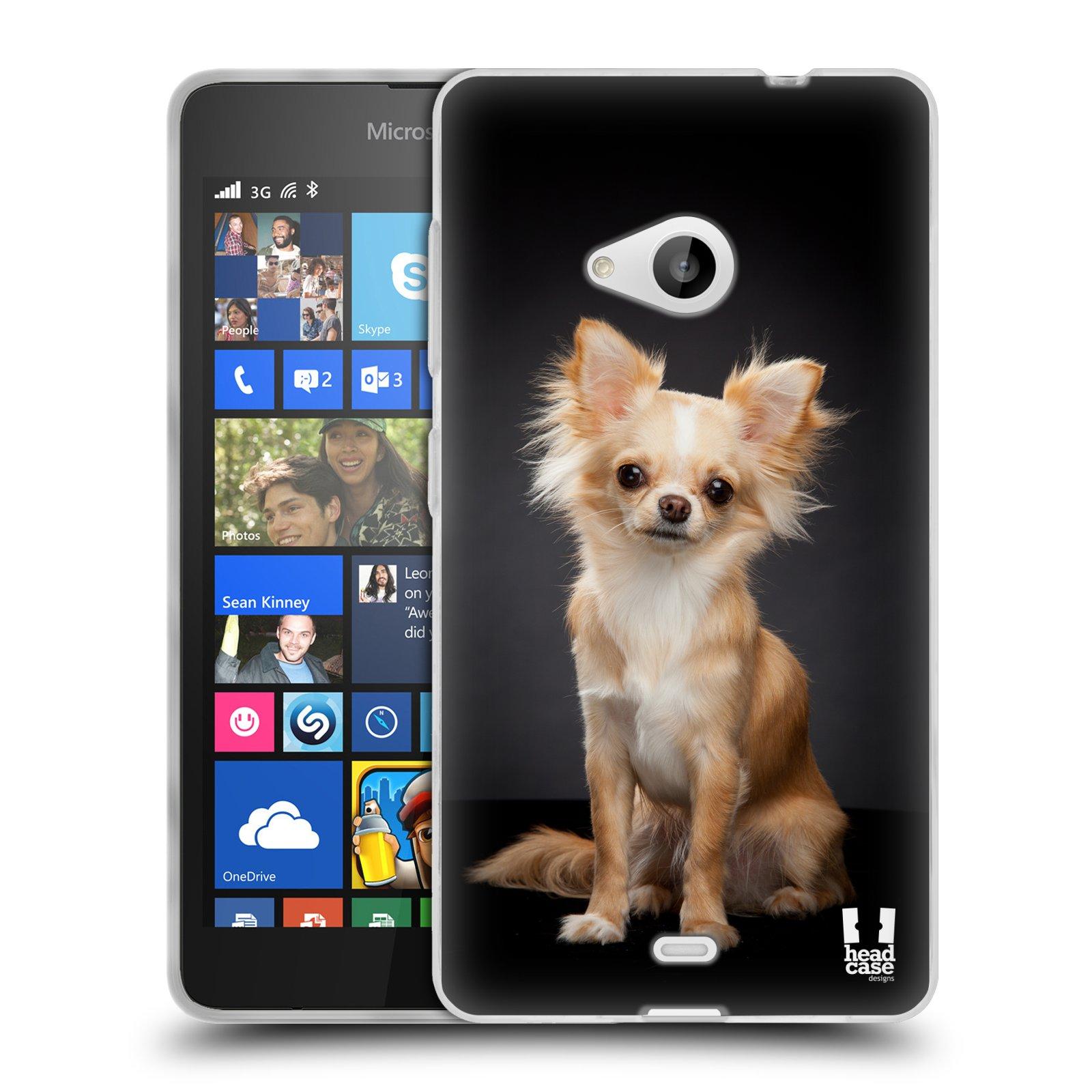 Silikonové pouzdro na mobil Microsoft Lumia 535 HEAD CASE ČIVAVA (Silikonový kryt či obal na mobilní telefon Microsoft Lumia 535)